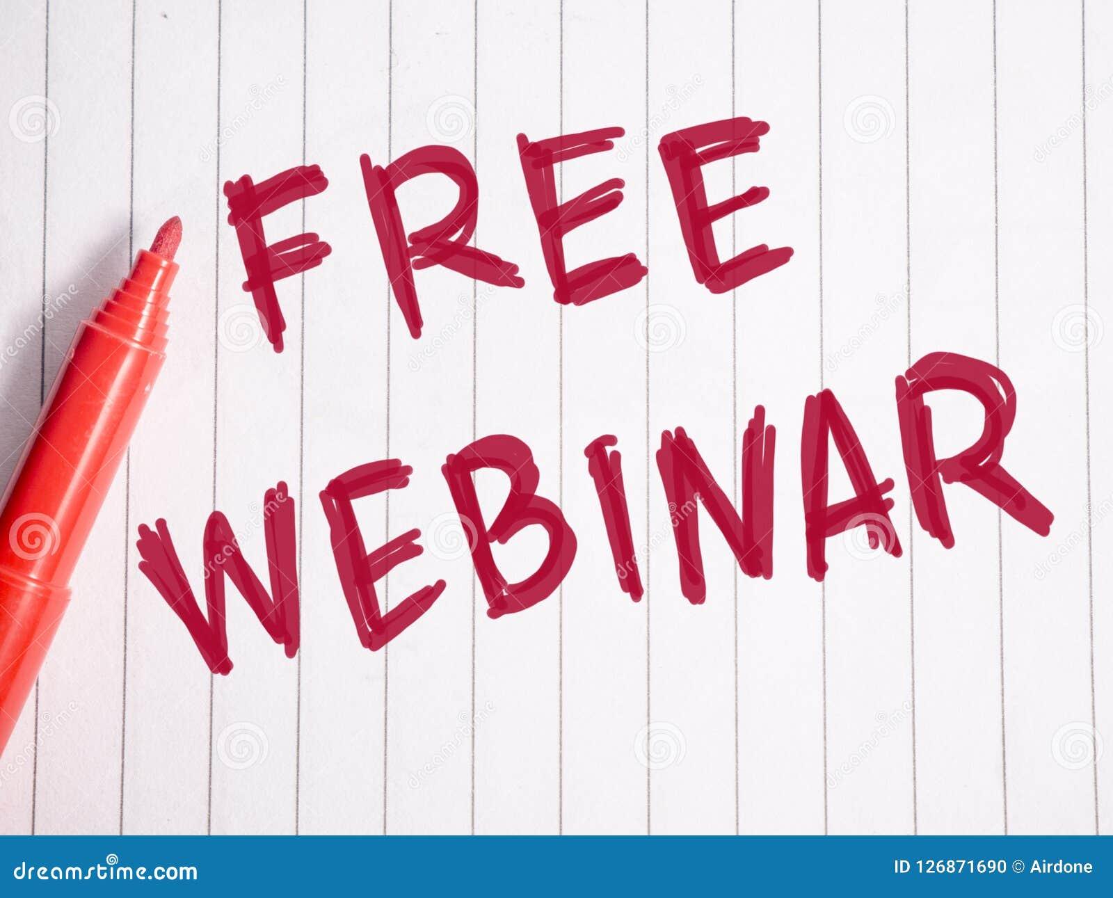 自由Webinar,企业诱导词行情概念