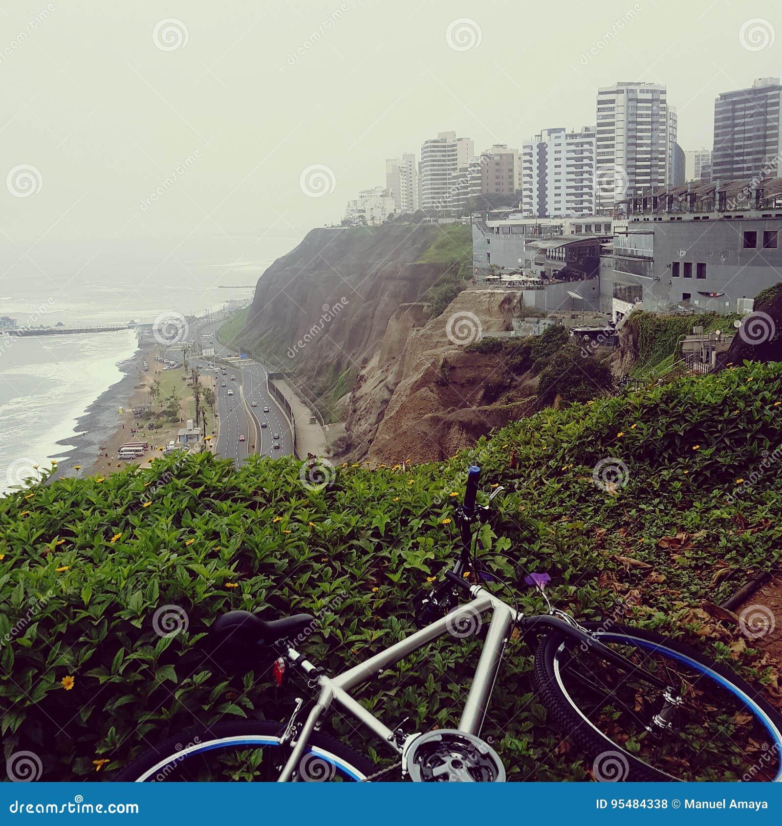 自行车海滩大厦山高速公路
