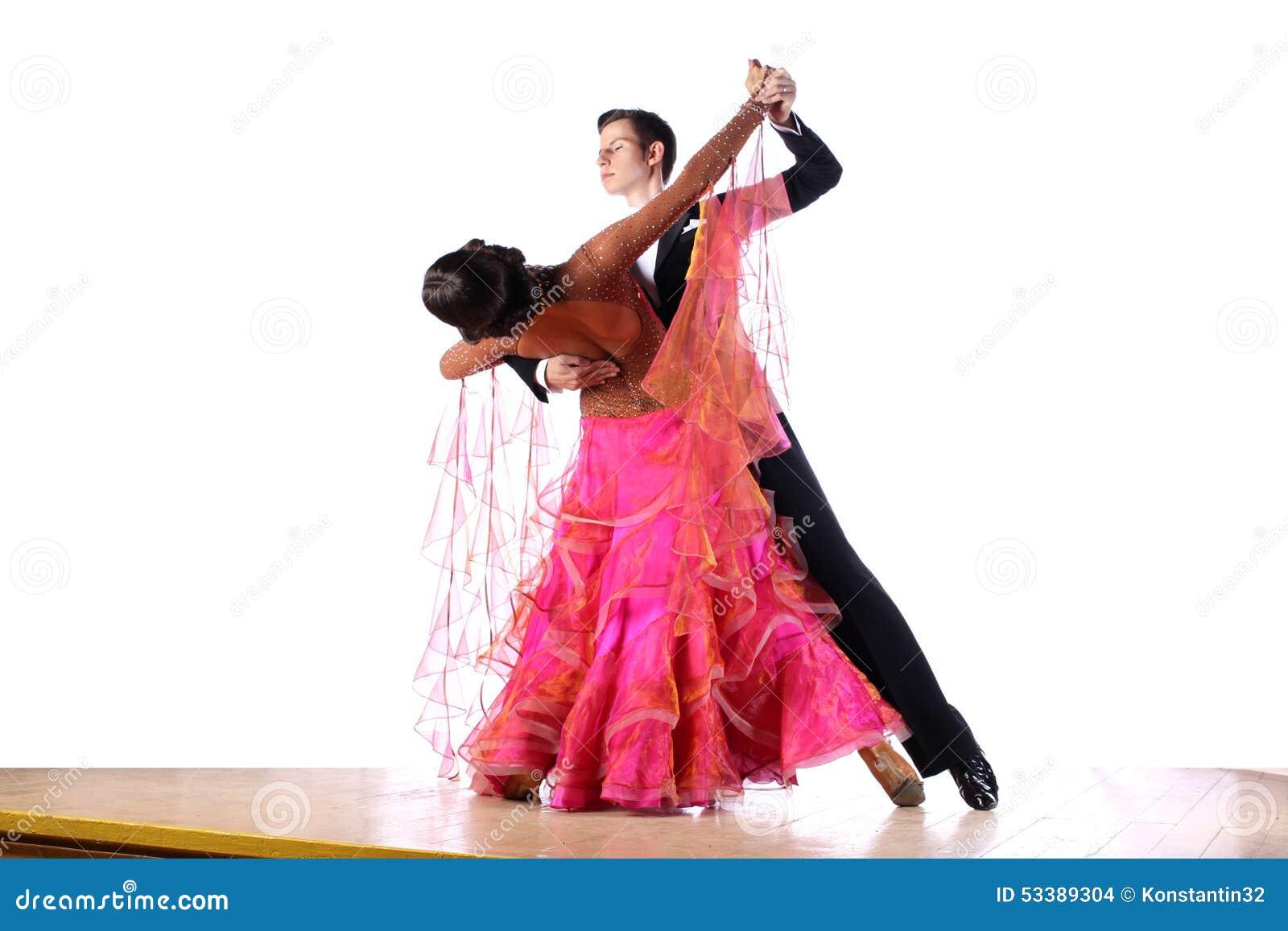 舞蹈演员在舞厅