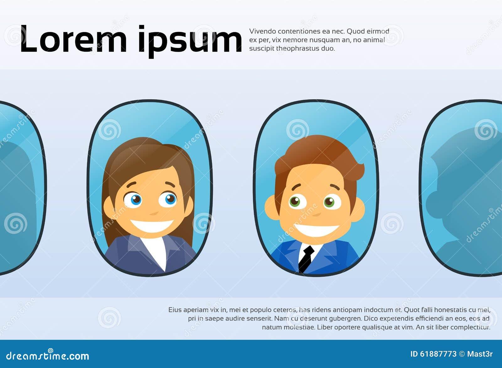 航空器Windows动画片商人人妇女