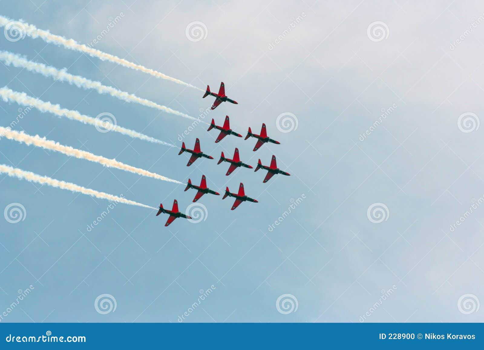 航空箭头红色显示