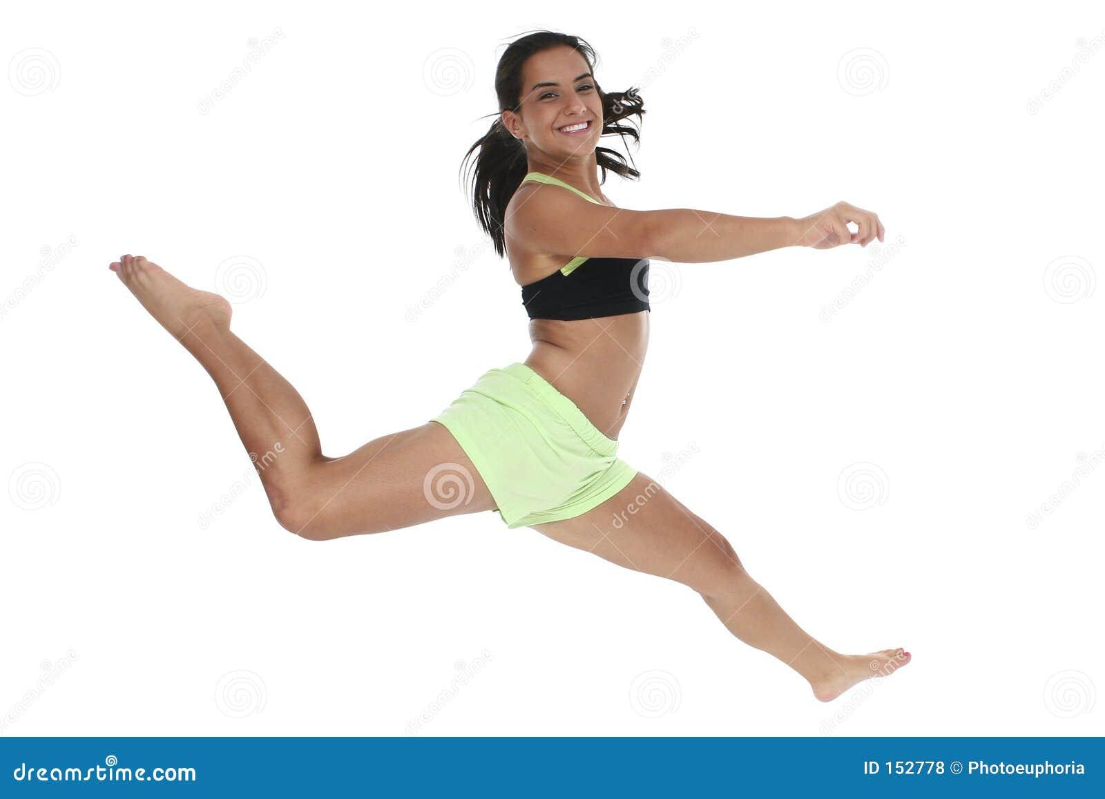 航空美好女孩跳青少年