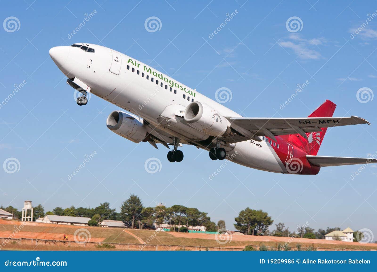 航空马达加斯加平面起飞