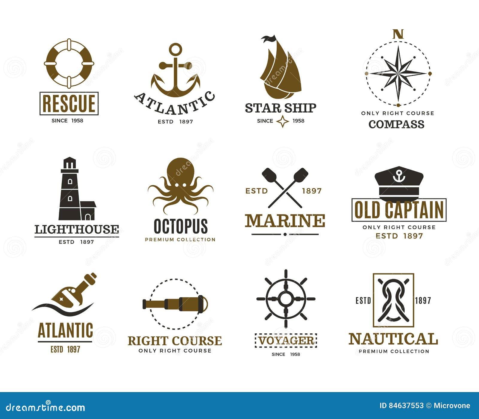 船舶的葡萄酒,海洋航行,海船传染媒介标签,徽章,商标