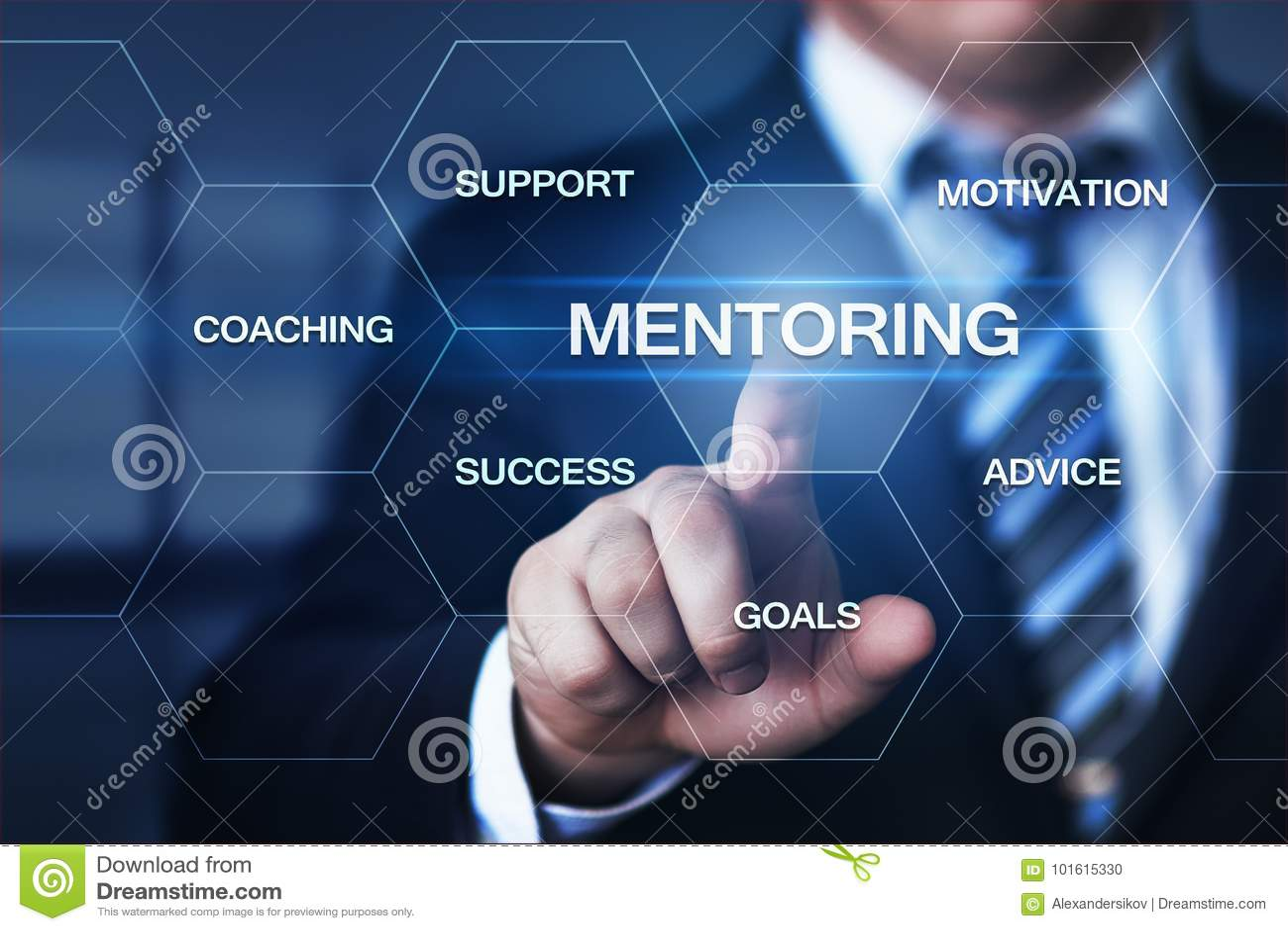 良师企业刺激教练的成功事业概念