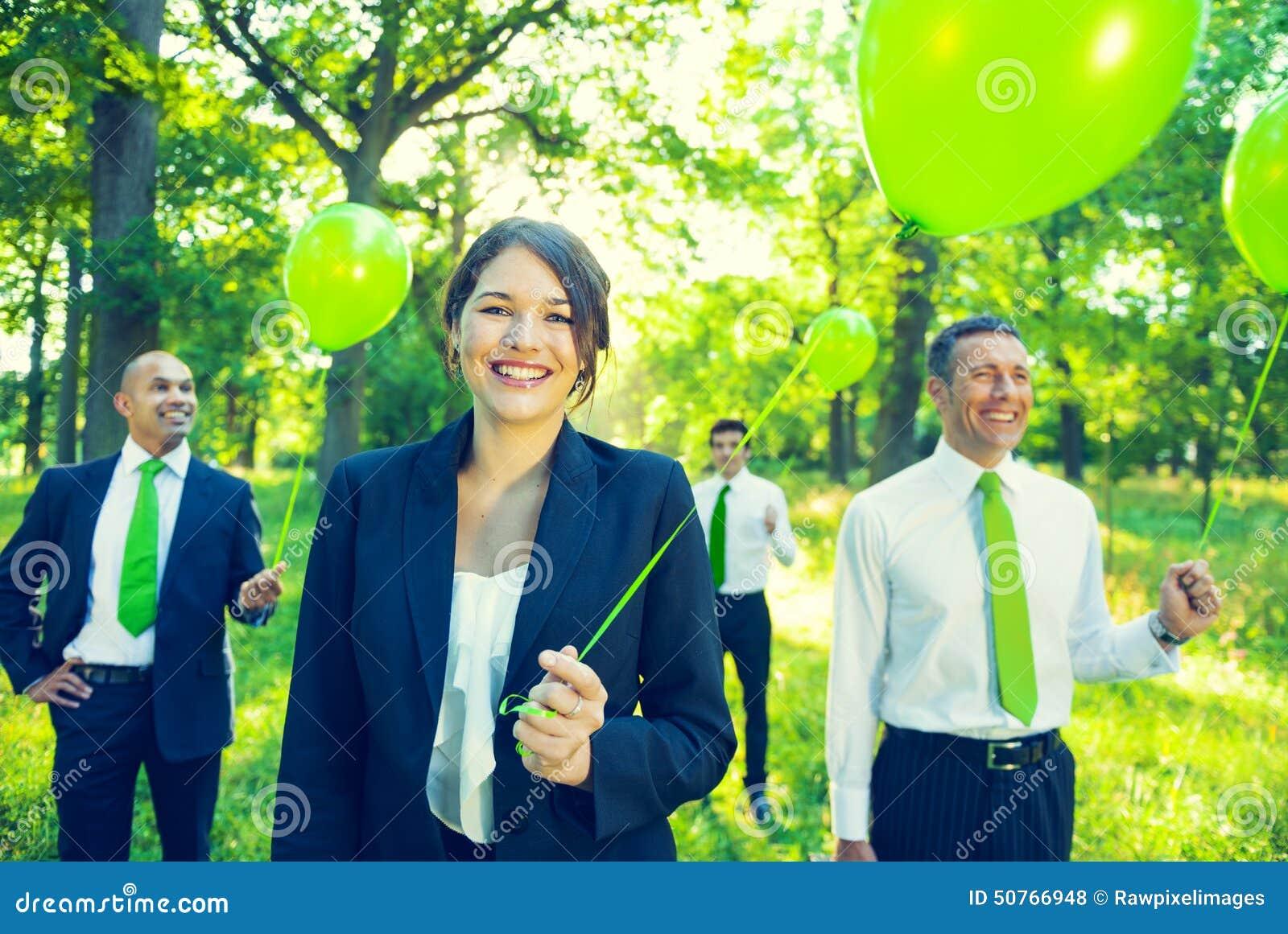 绿色企业队不伤环境的概念
