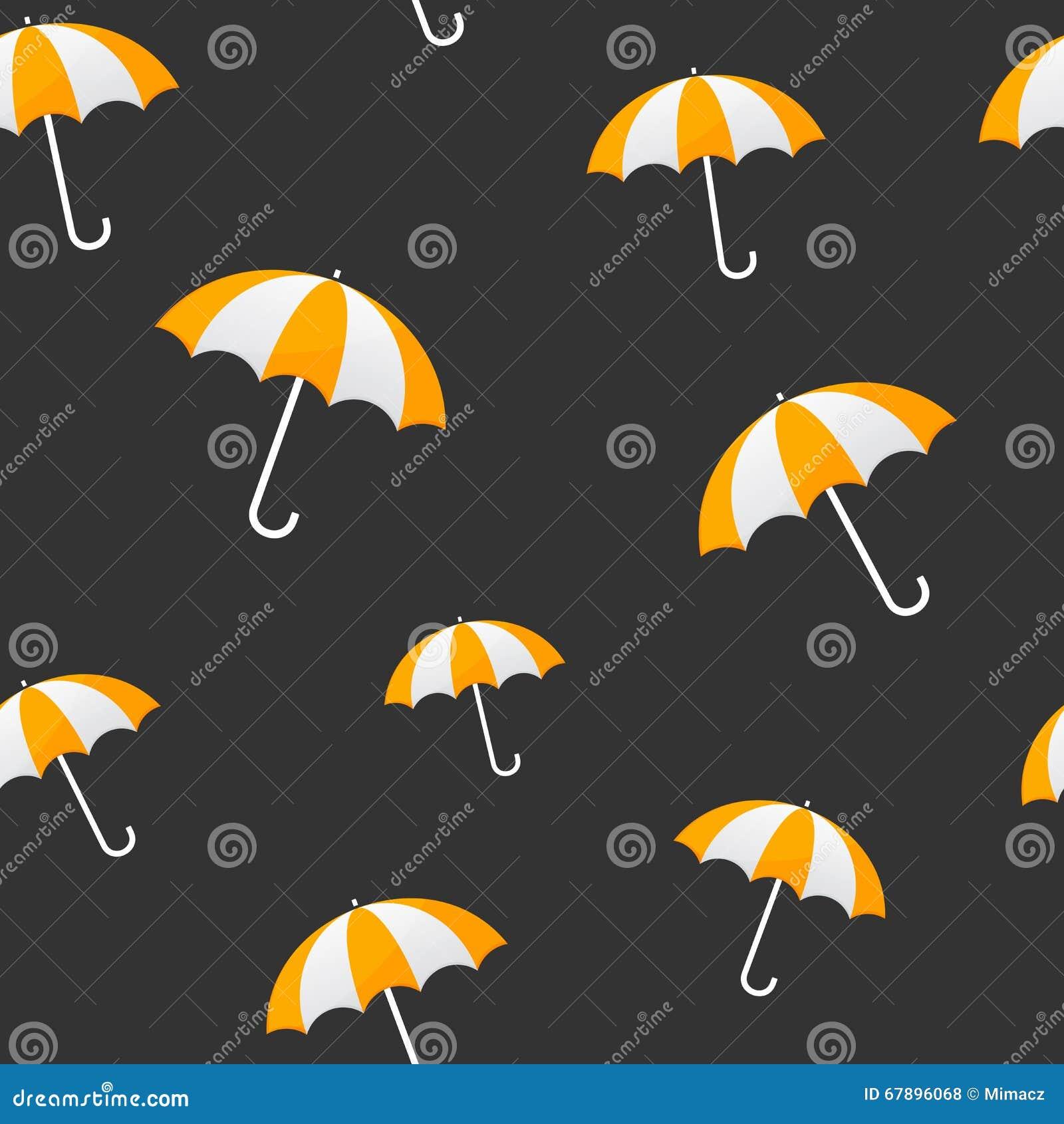 黄色伞无缝的背景