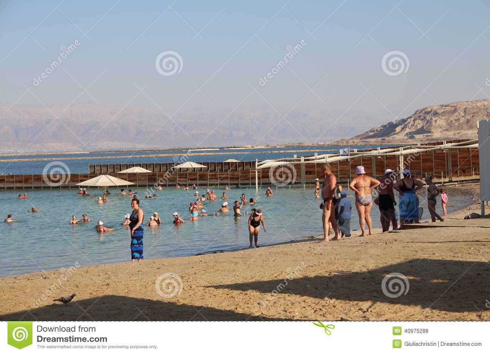 以色列- Ein的Bokek死海