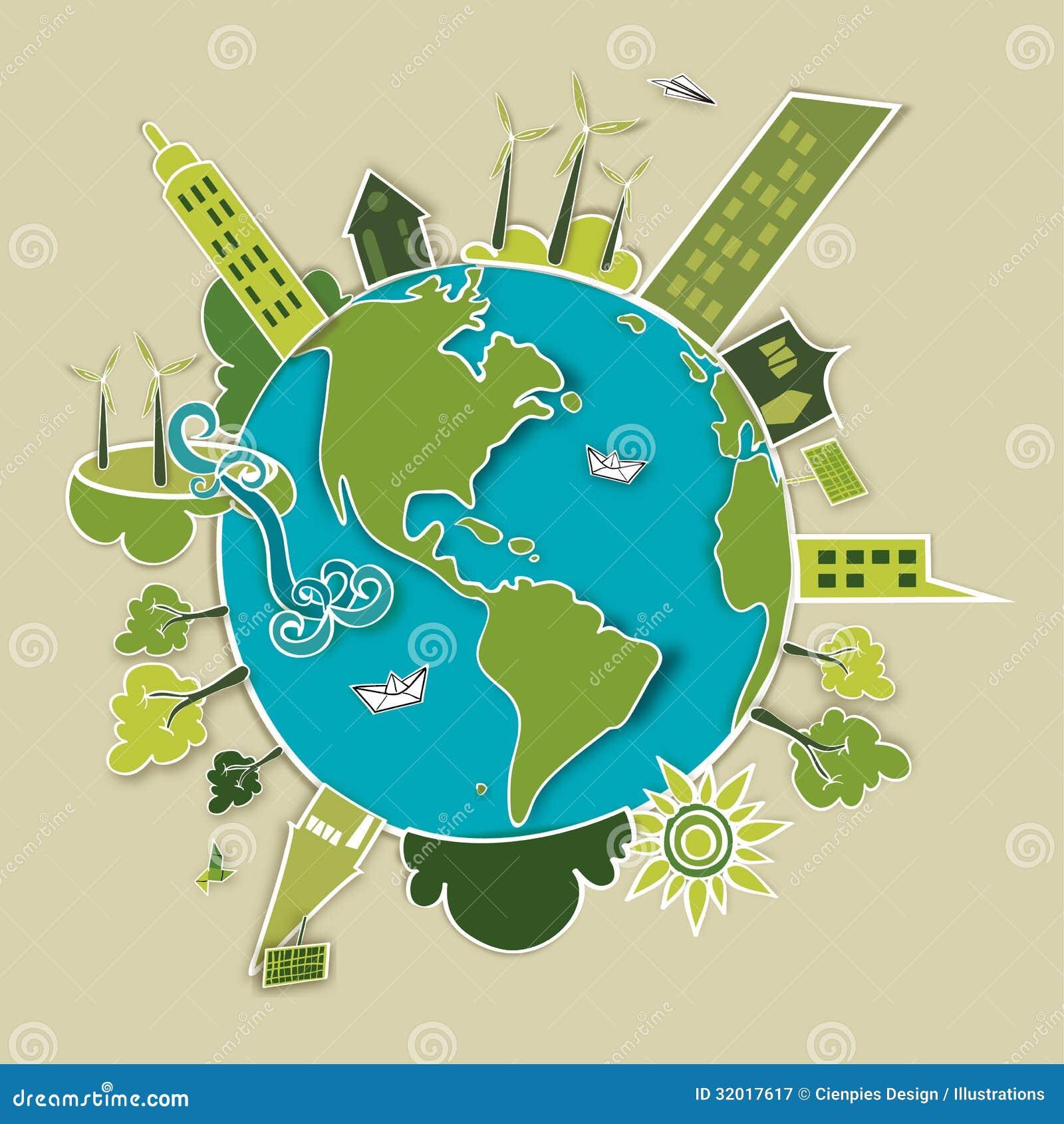 绿色发展概念地球