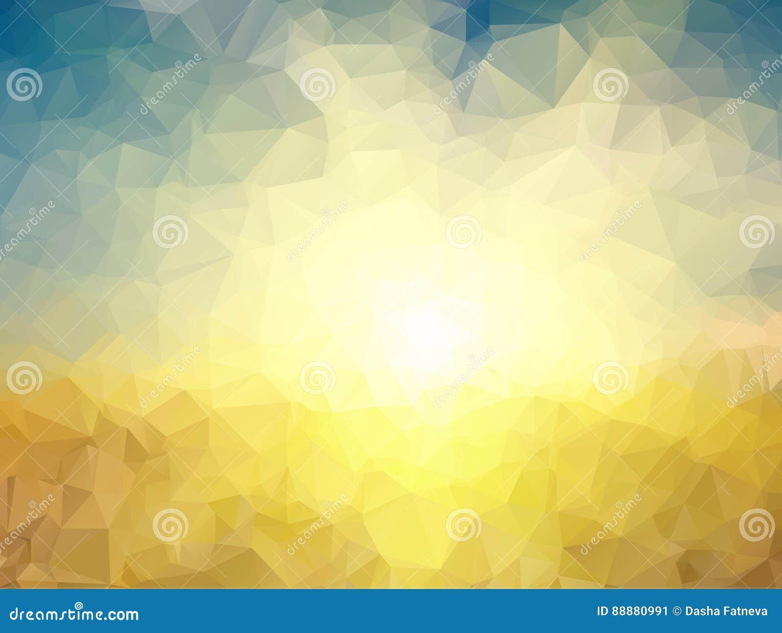黄色和蓝色多角形背景