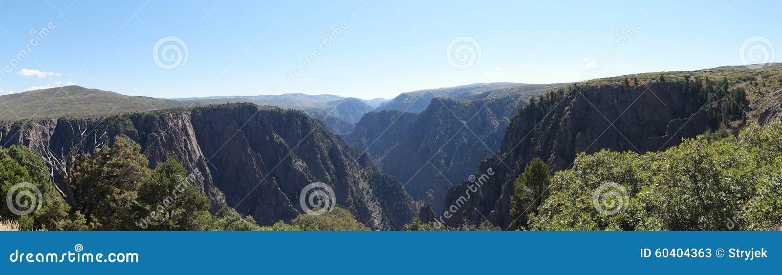 黑色峡谷gunnison国家公园