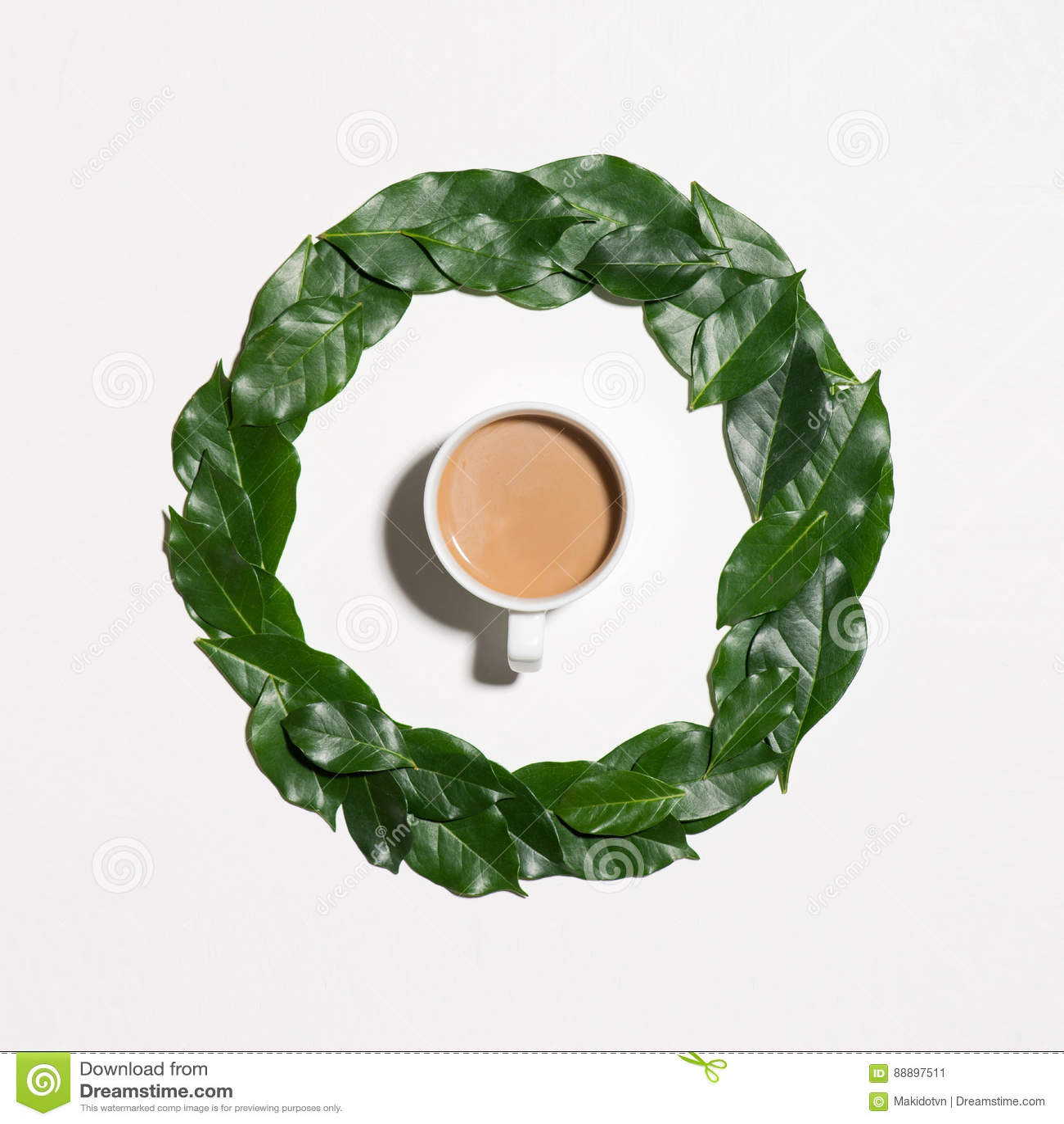 绿色平的位置留给样式咖啡在白色ba