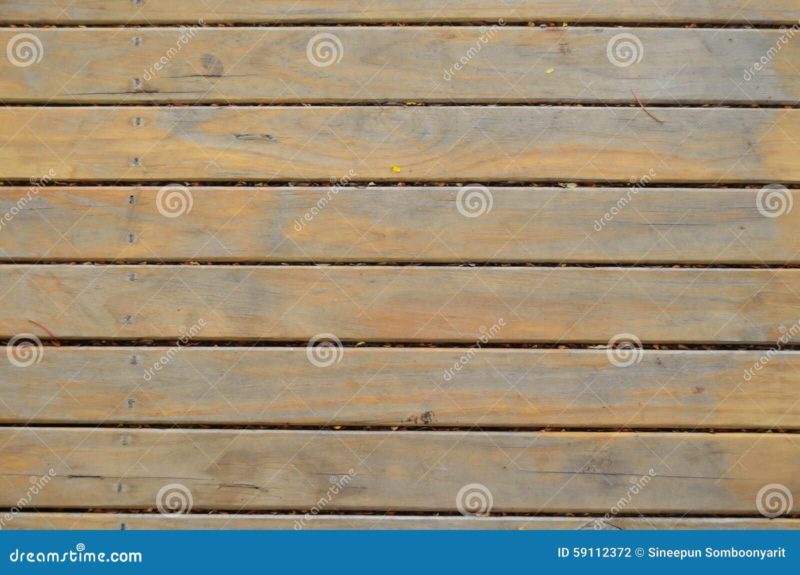 黄色木材板条地板