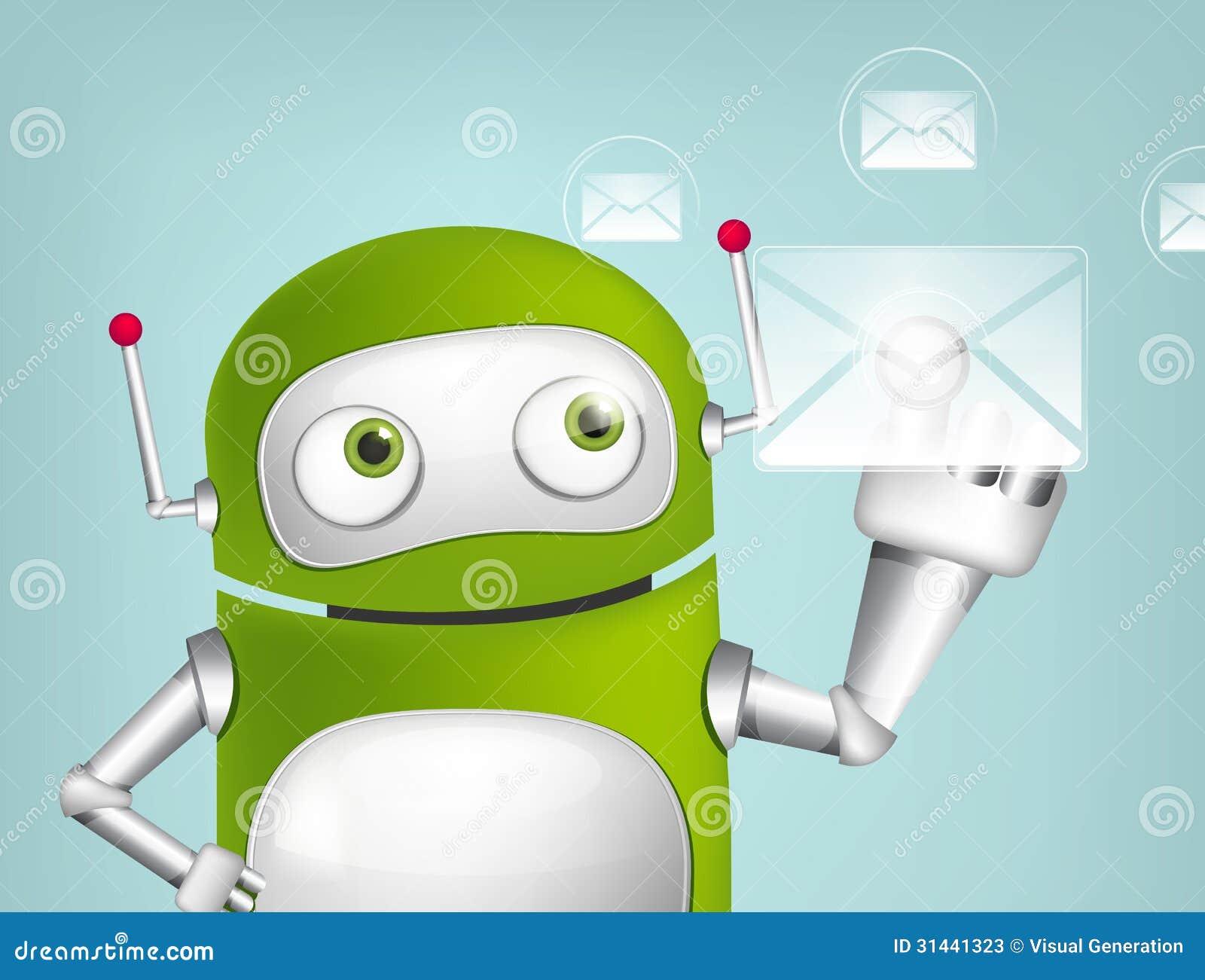 绿色机器人