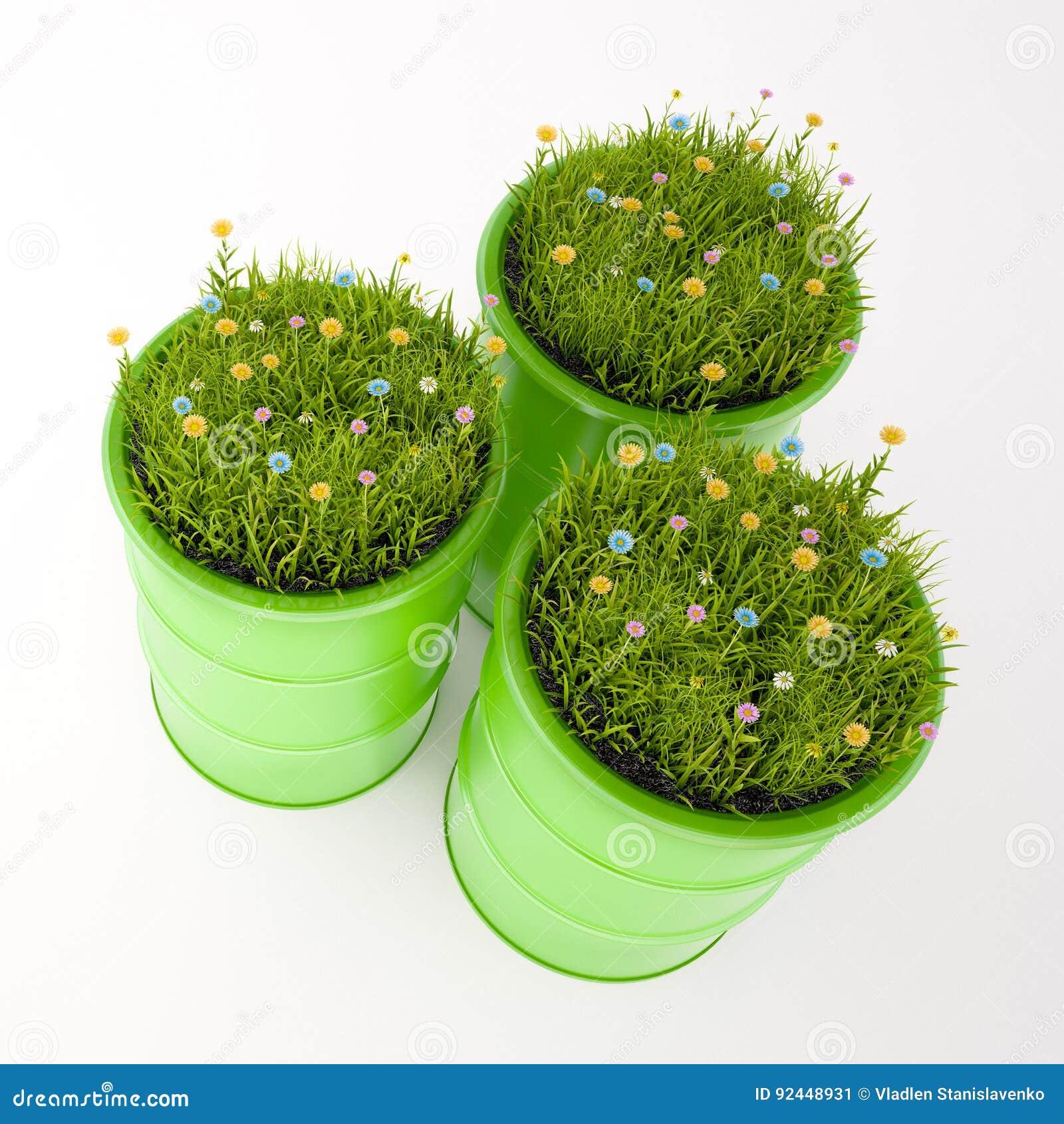 绿色桶生物燃料