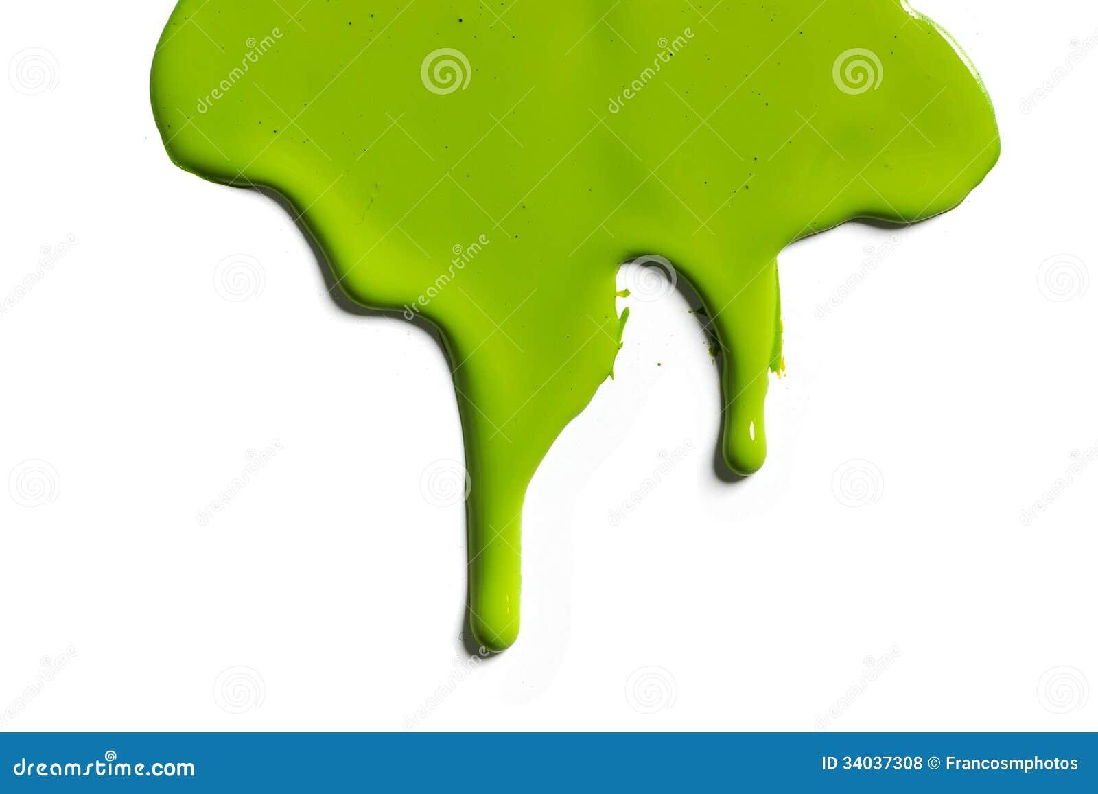 绿色油漆水滴