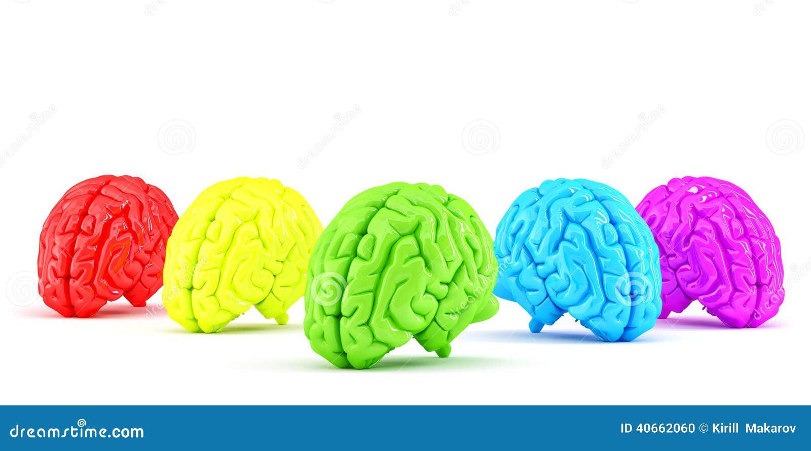 色的人脑 创造性的概念 查出 包含裁减路线