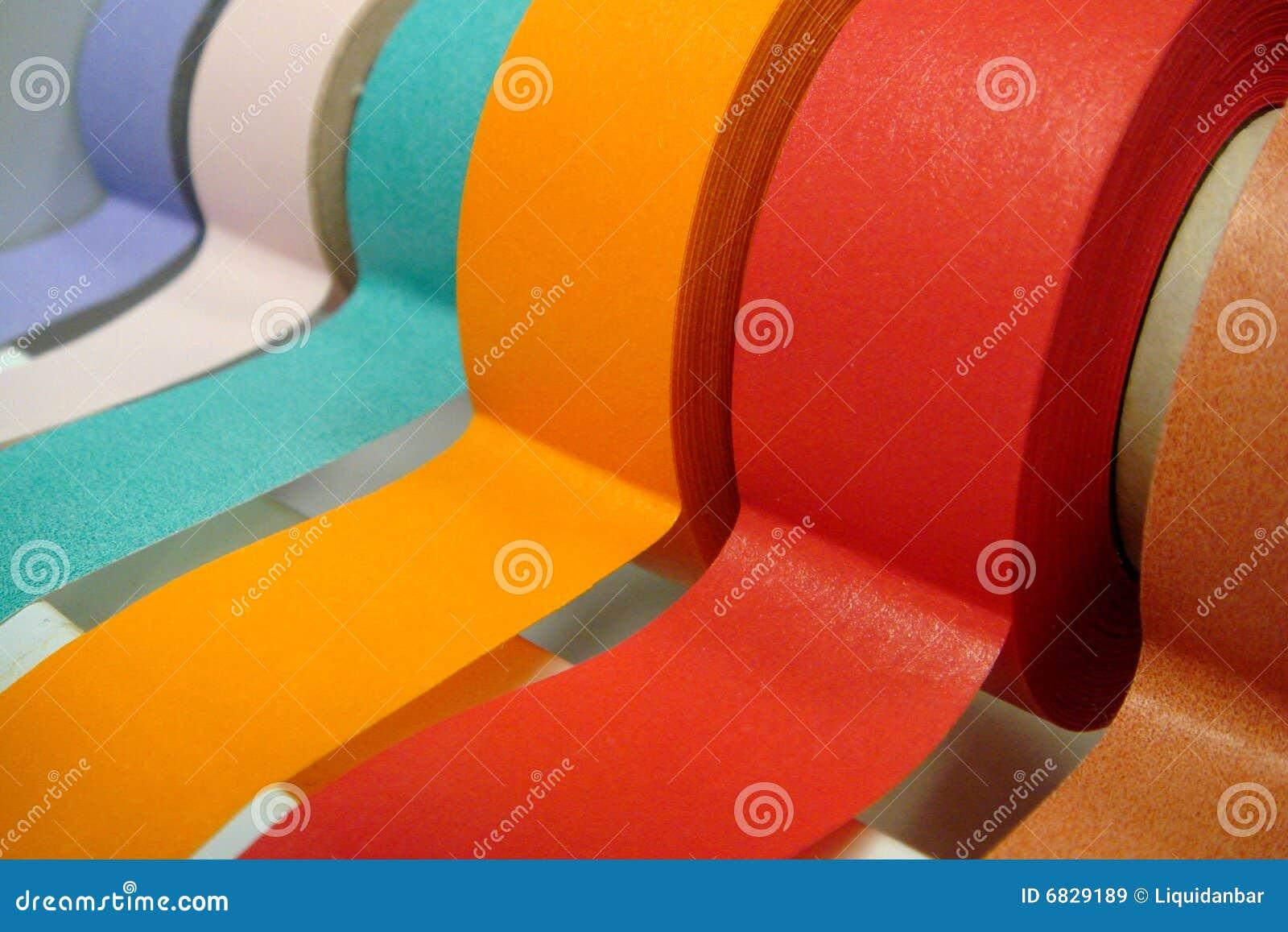 色的分配器磁带