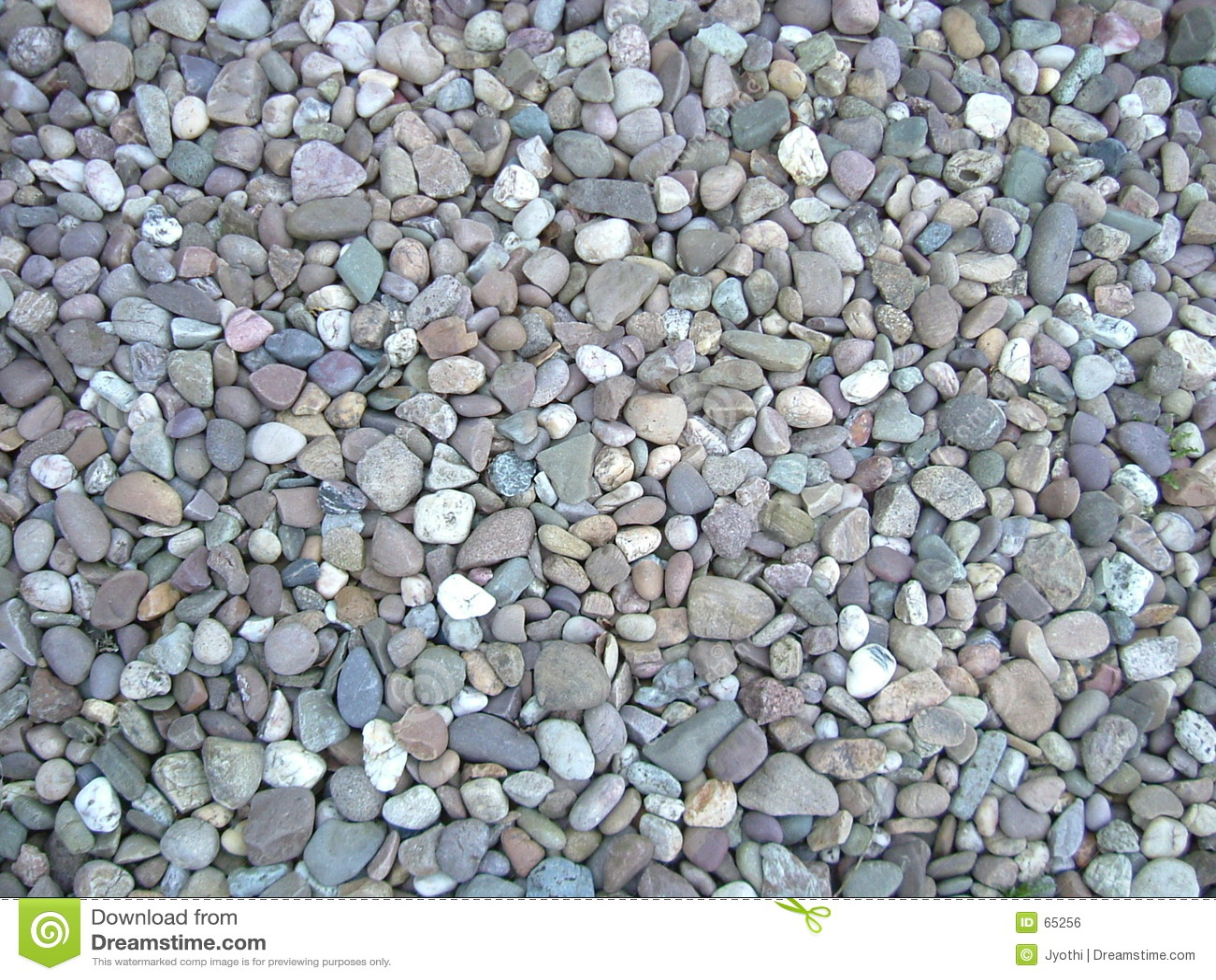 色的小卵石