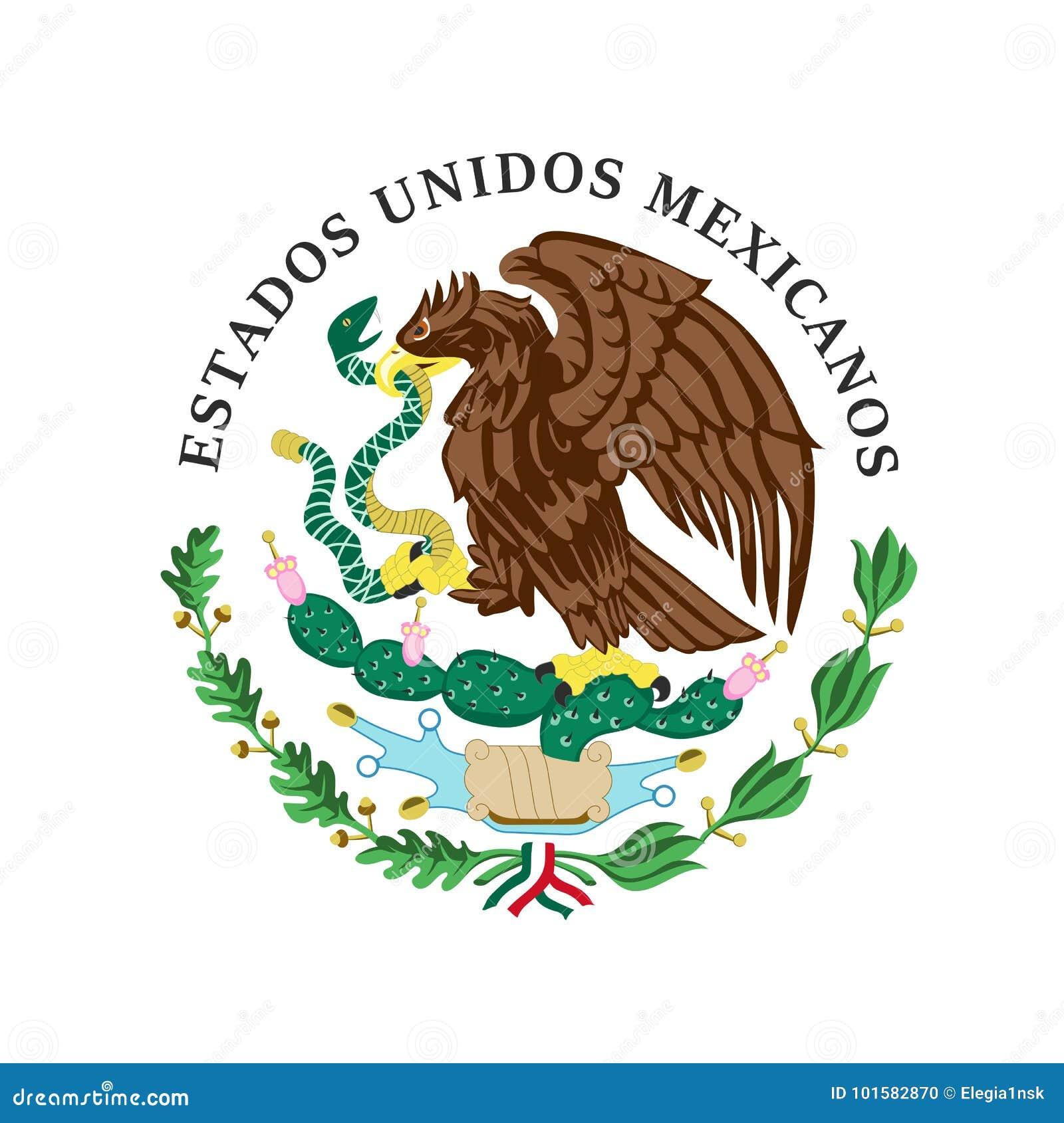色的徽章墨西哥的