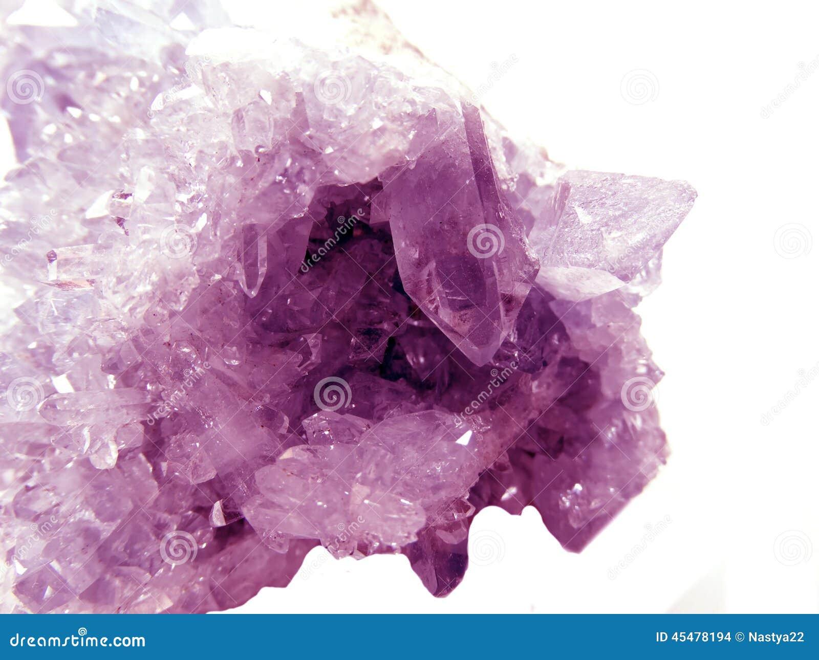 紫色的geode地质水晶