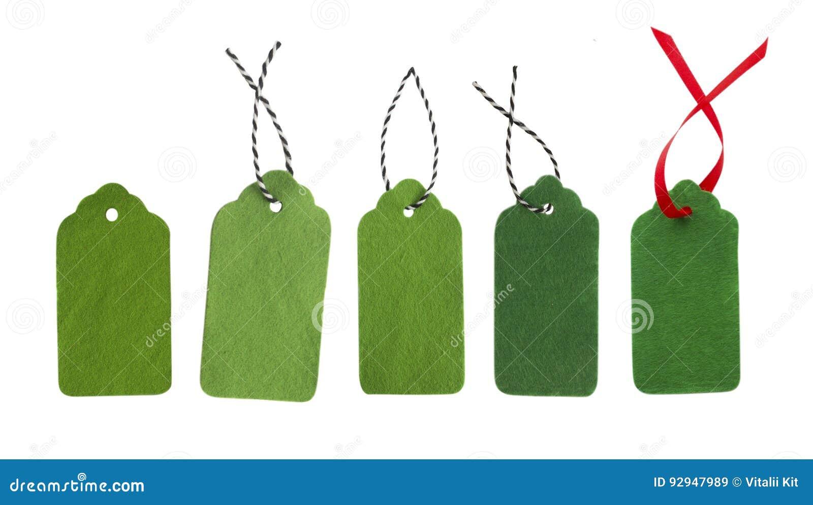 绿色礼物标记