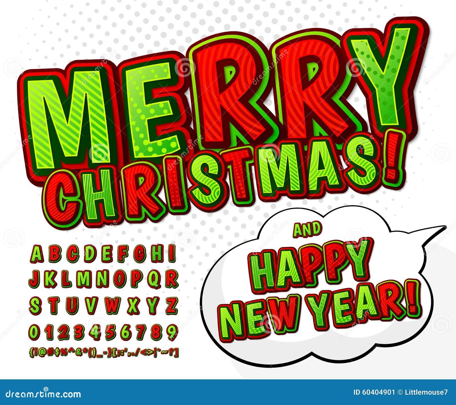 绿色红色高细节可笑的字体,字母表 漫画,流行艺术