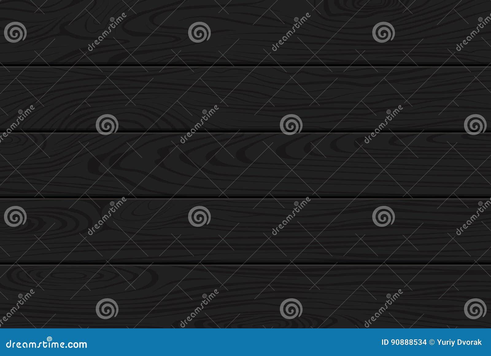 黑色纹理木头 背景黑暗自然木 乌木,墨黑的木头 顶视图 传染媒介板条纹理