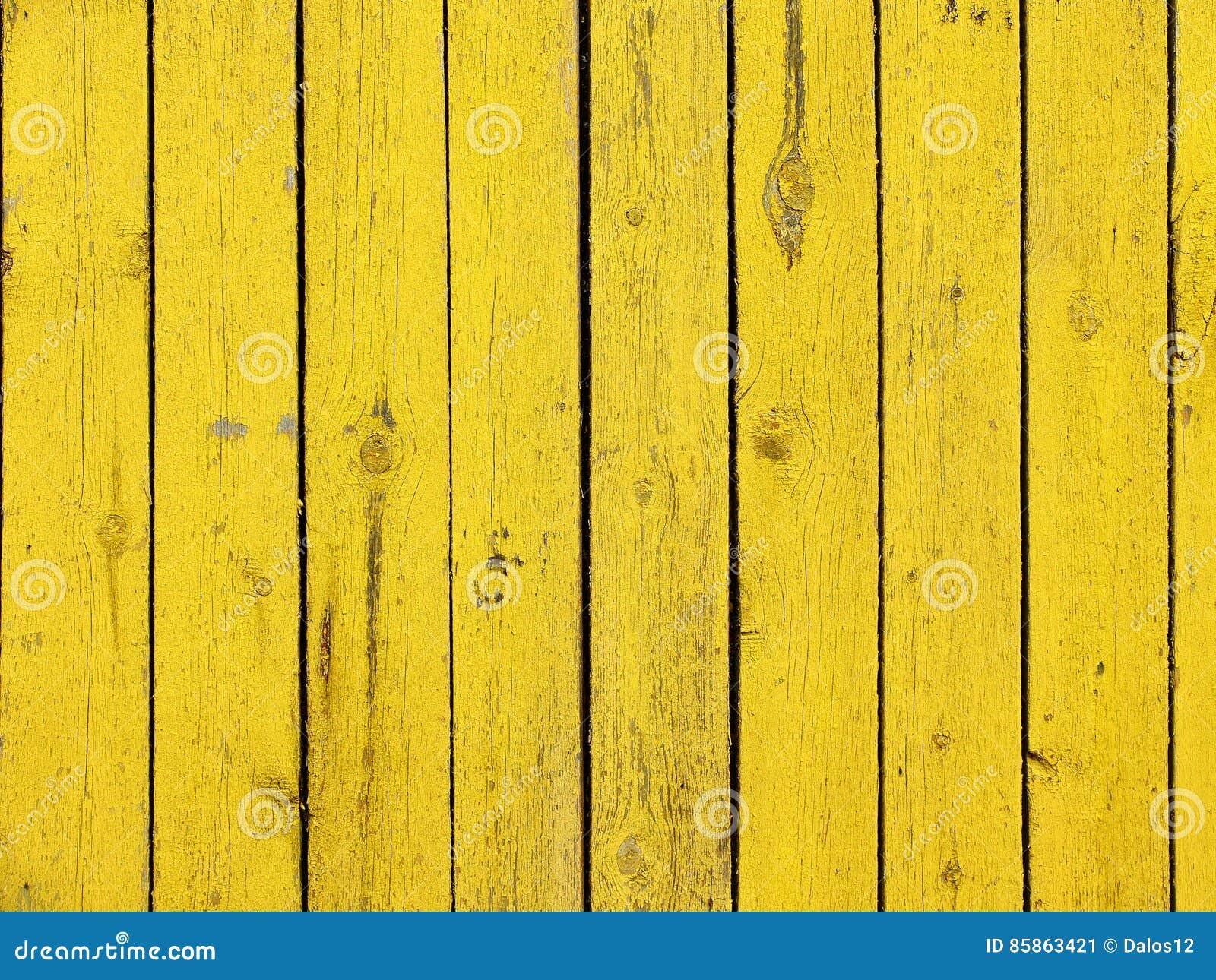 黄色色的老木板条纹理背景