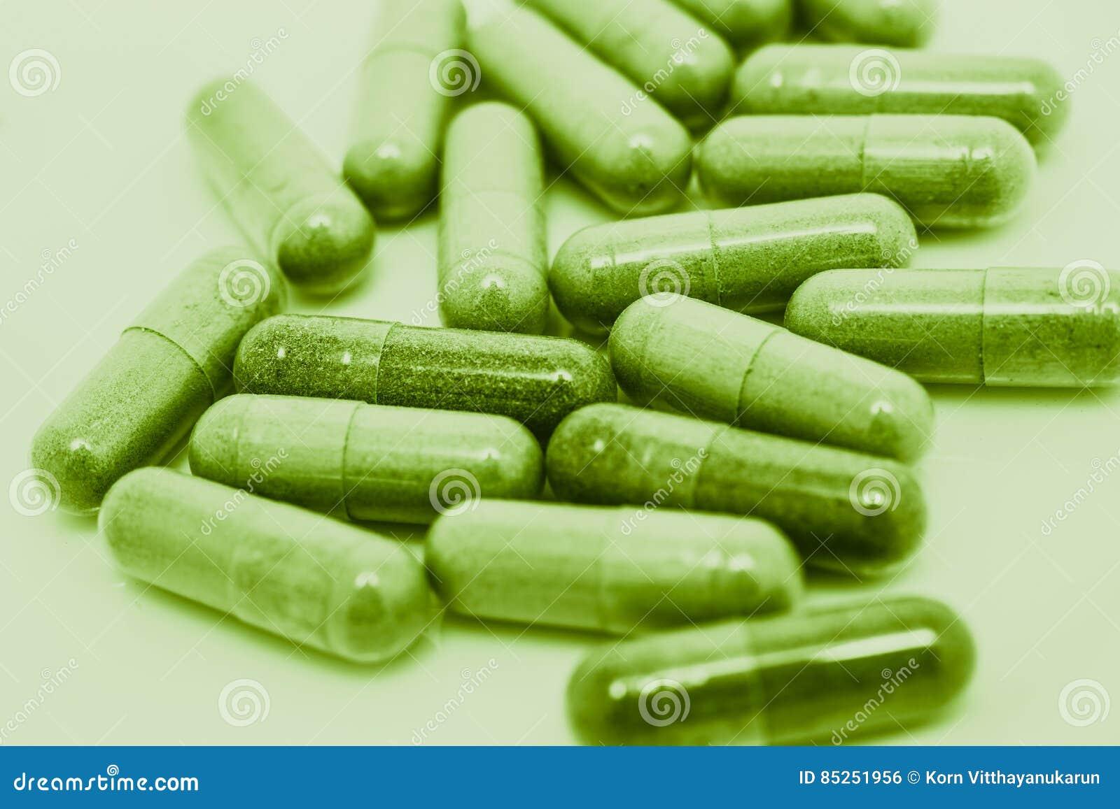 绿色药片胶囊