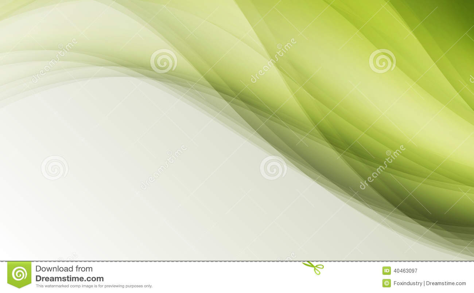绿色eco波浪叶子创造性的线提取背景