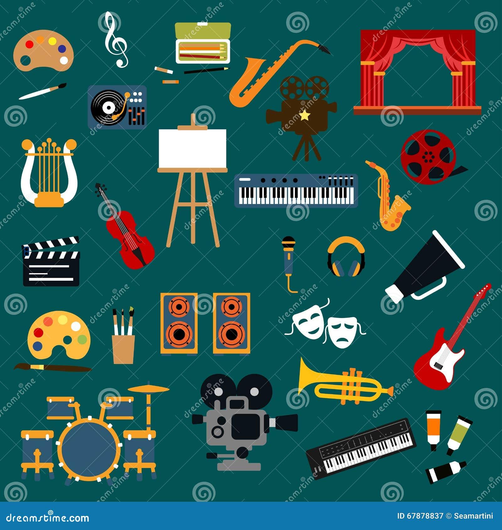 艺术、音乐、戏院和剧院象