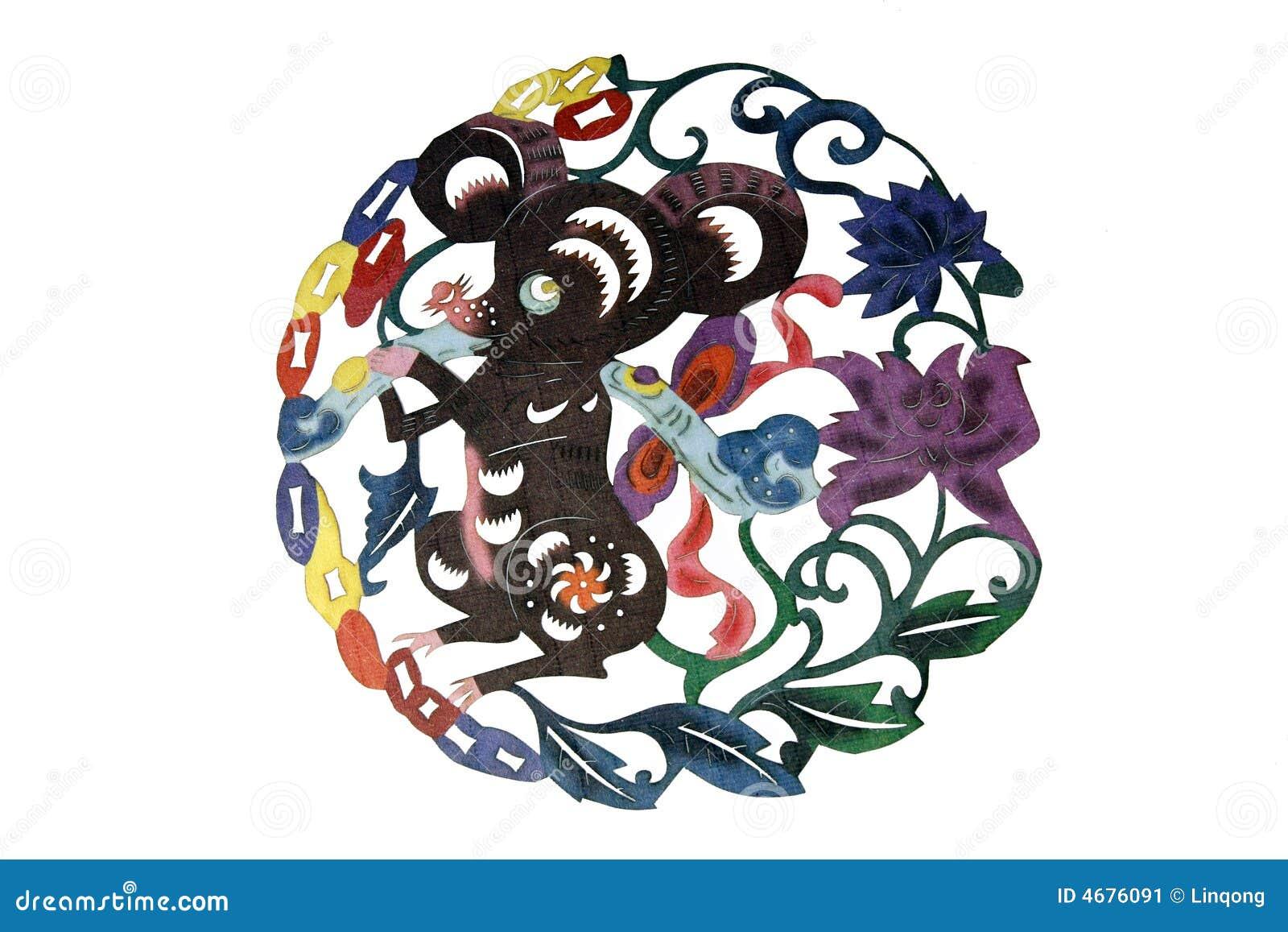艺术中国布料剪切纸张