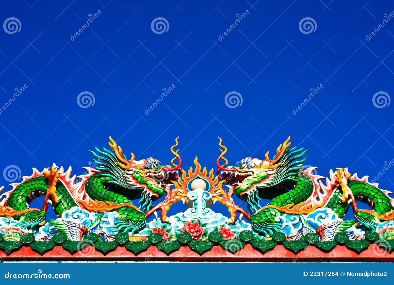 艺术中国龙屋顶