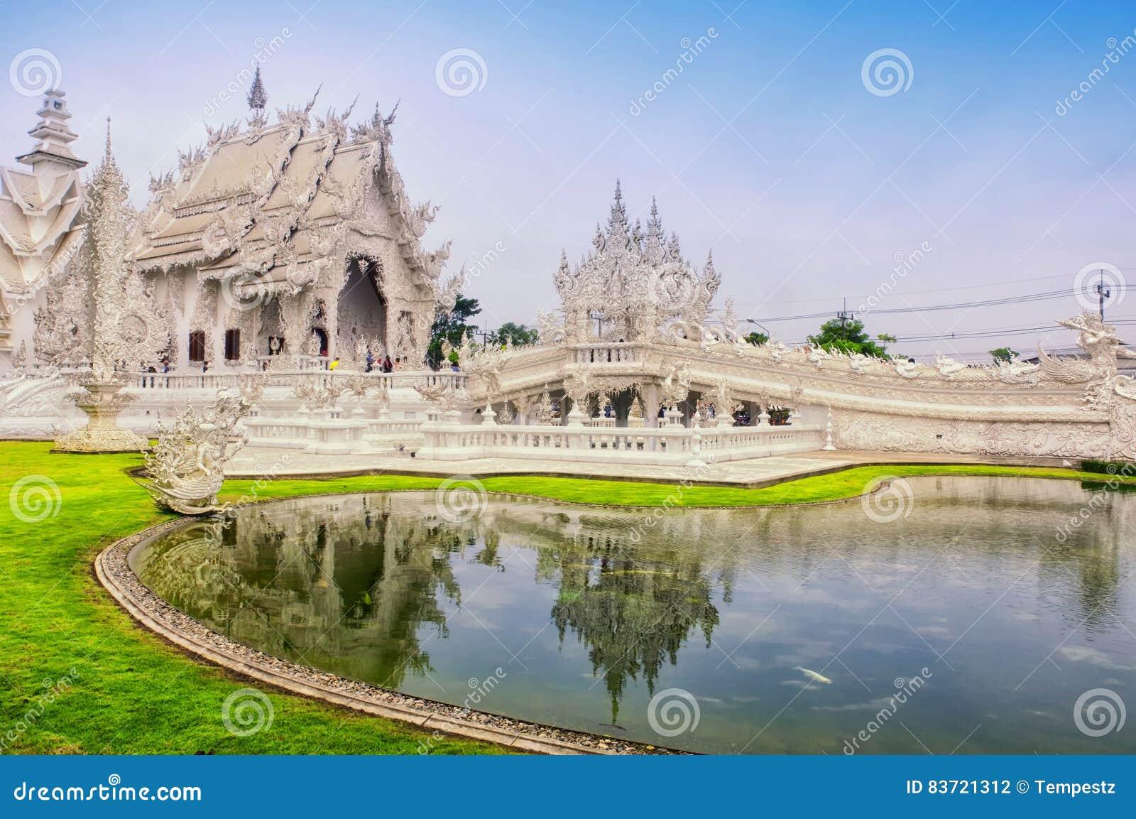 艺术吸引力美好的chiang文化精美khun rai rong任务寺庙泰国wat白色