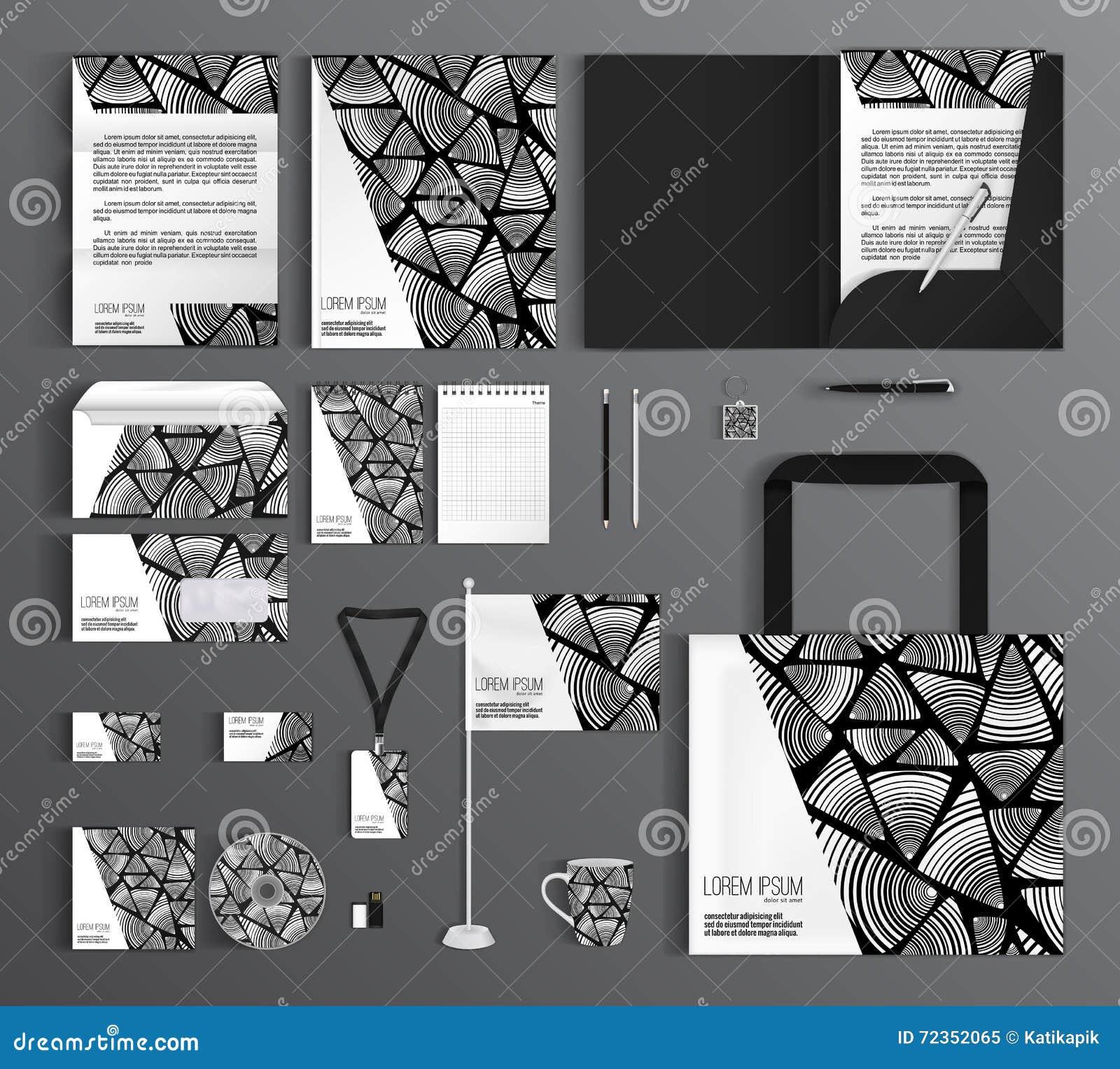 艺术品企业公司本体模板向量 设置与现代抽象样式