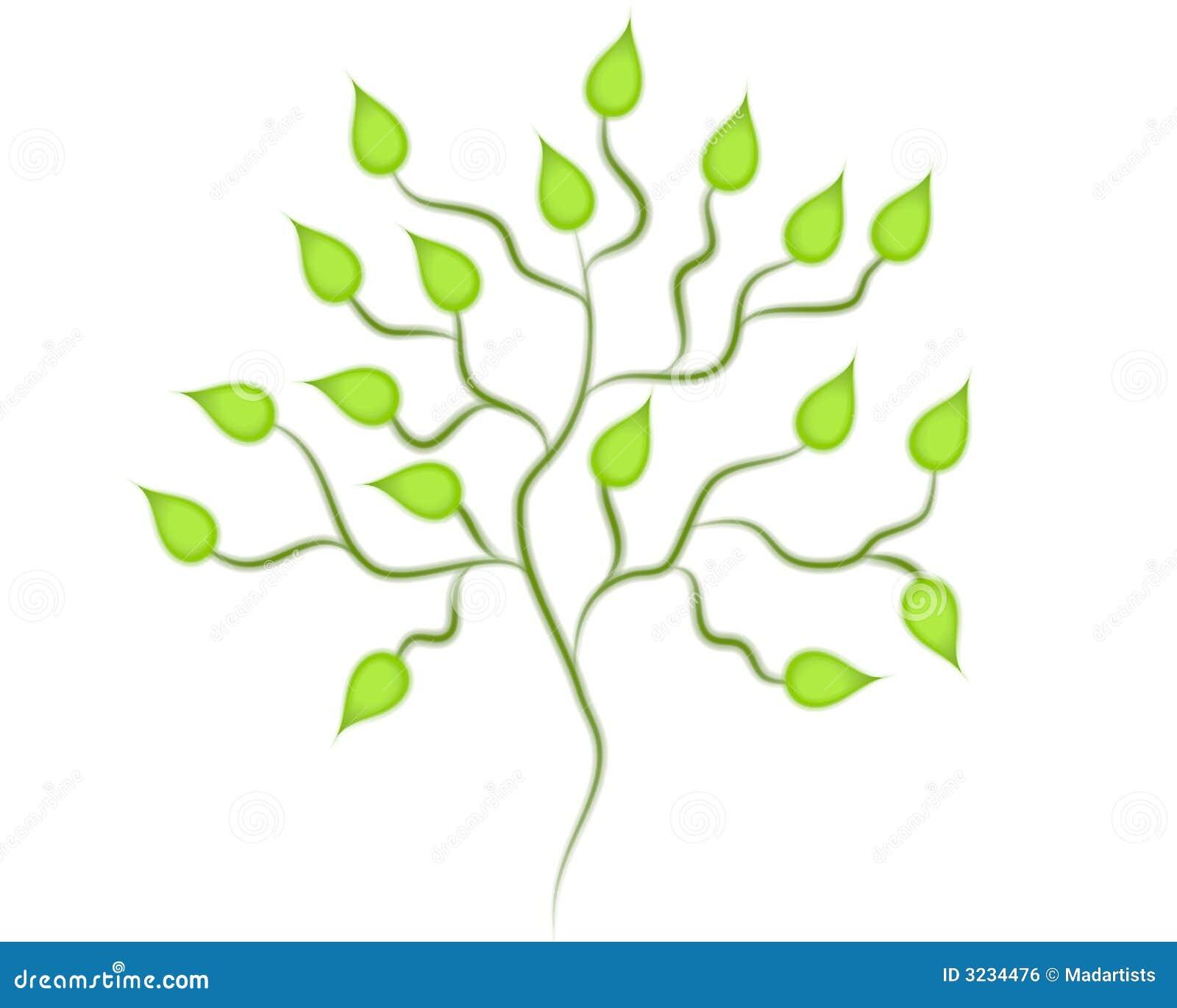 艺术夹子绿色查出的结构树