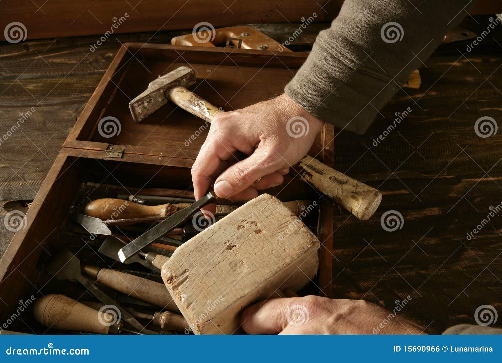 艺术家木匠craftman现有量工具