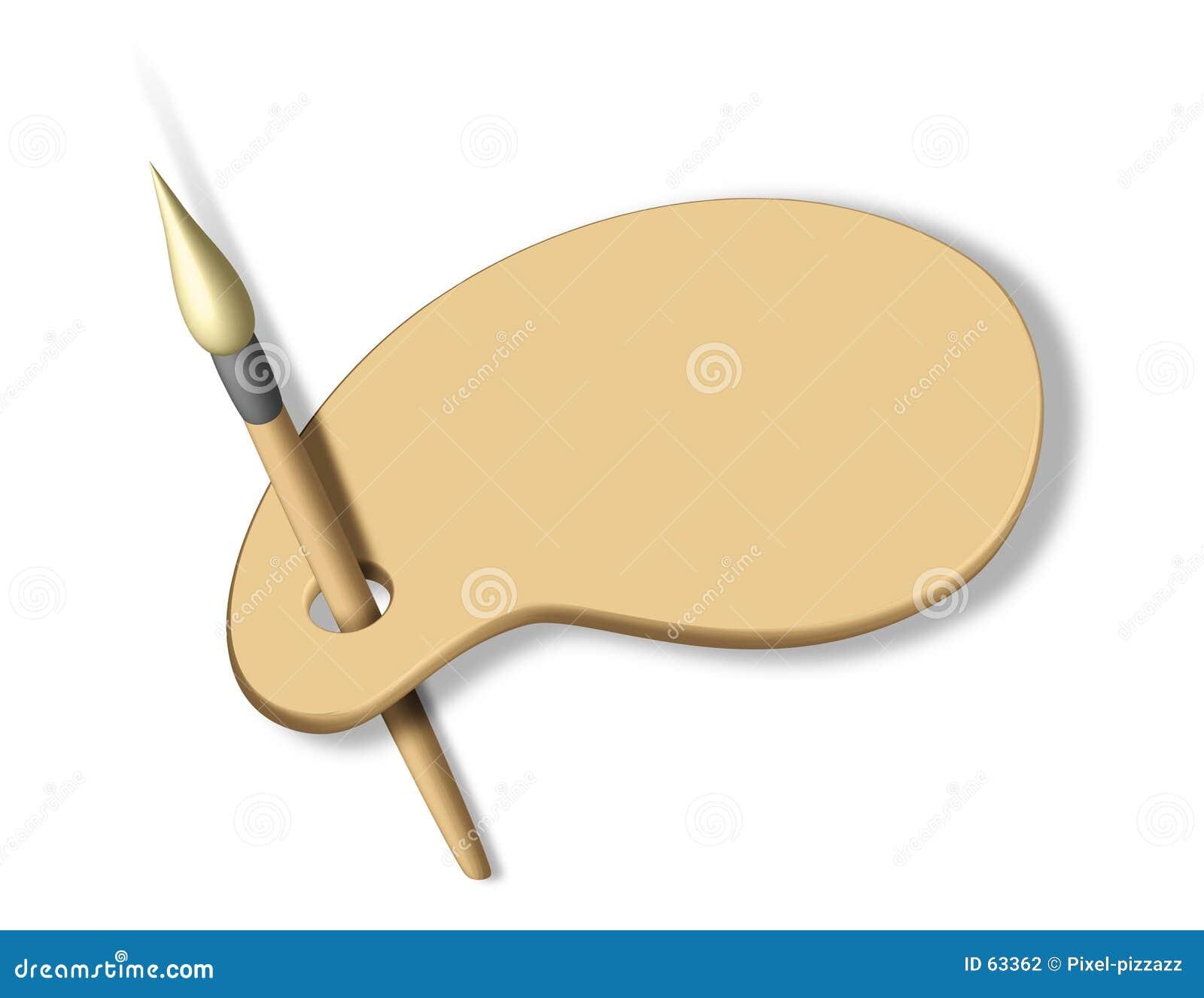 艺术家空白调色板