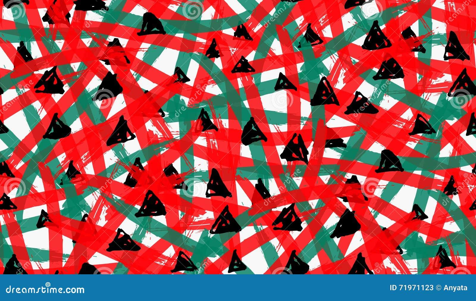 艺术性的颜色掠过了与黑三角的红色绿色纹理