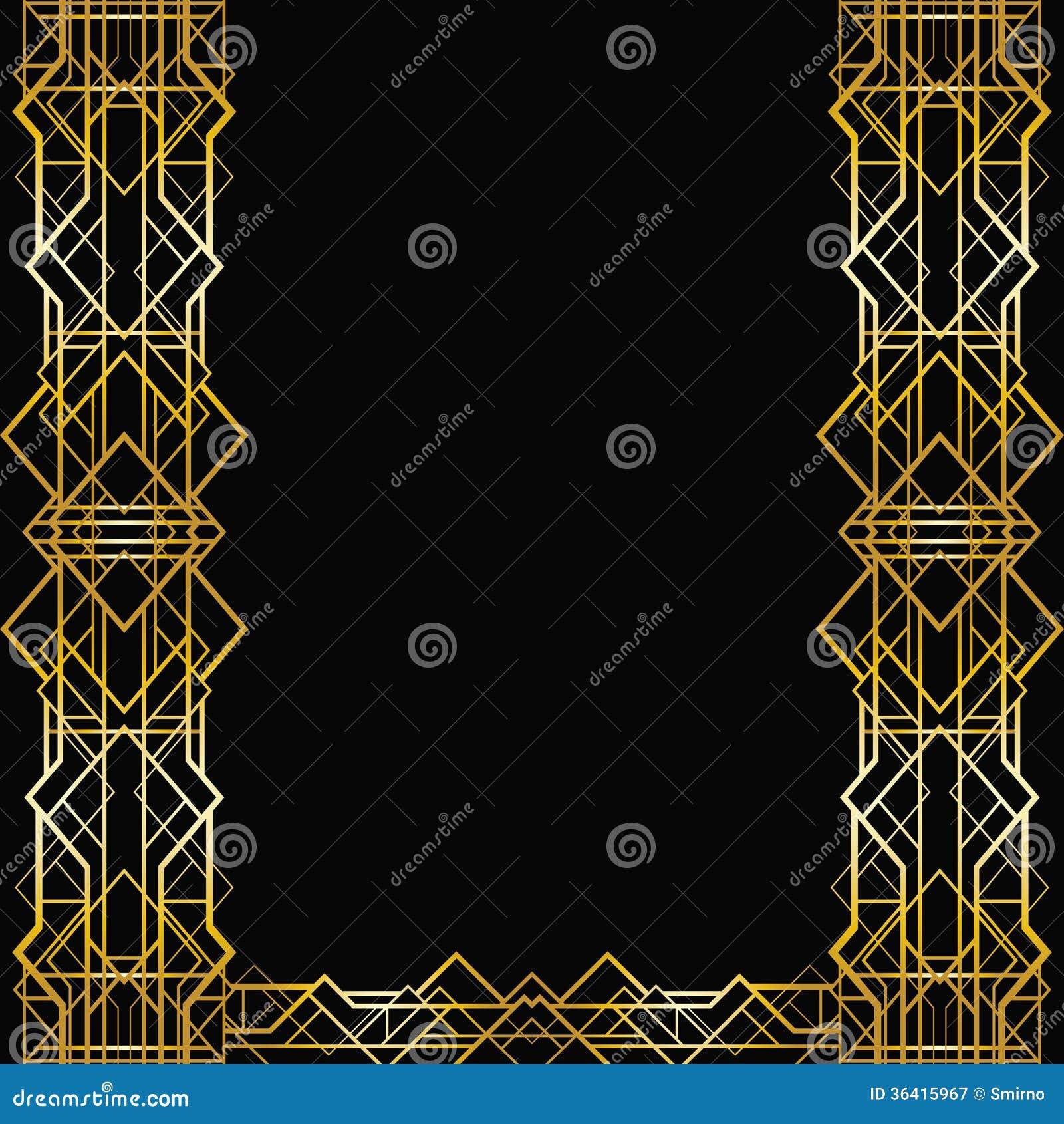 艺术装饰几何框架