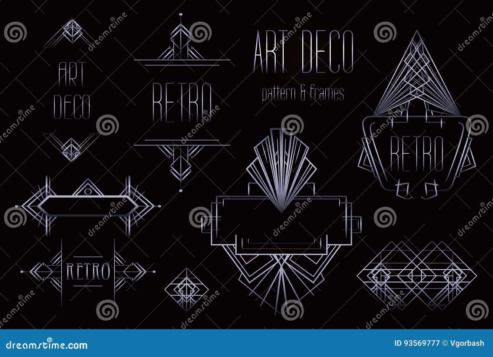 艺术装饰葡萄酒样式和框架 减速火箭的党几何后面