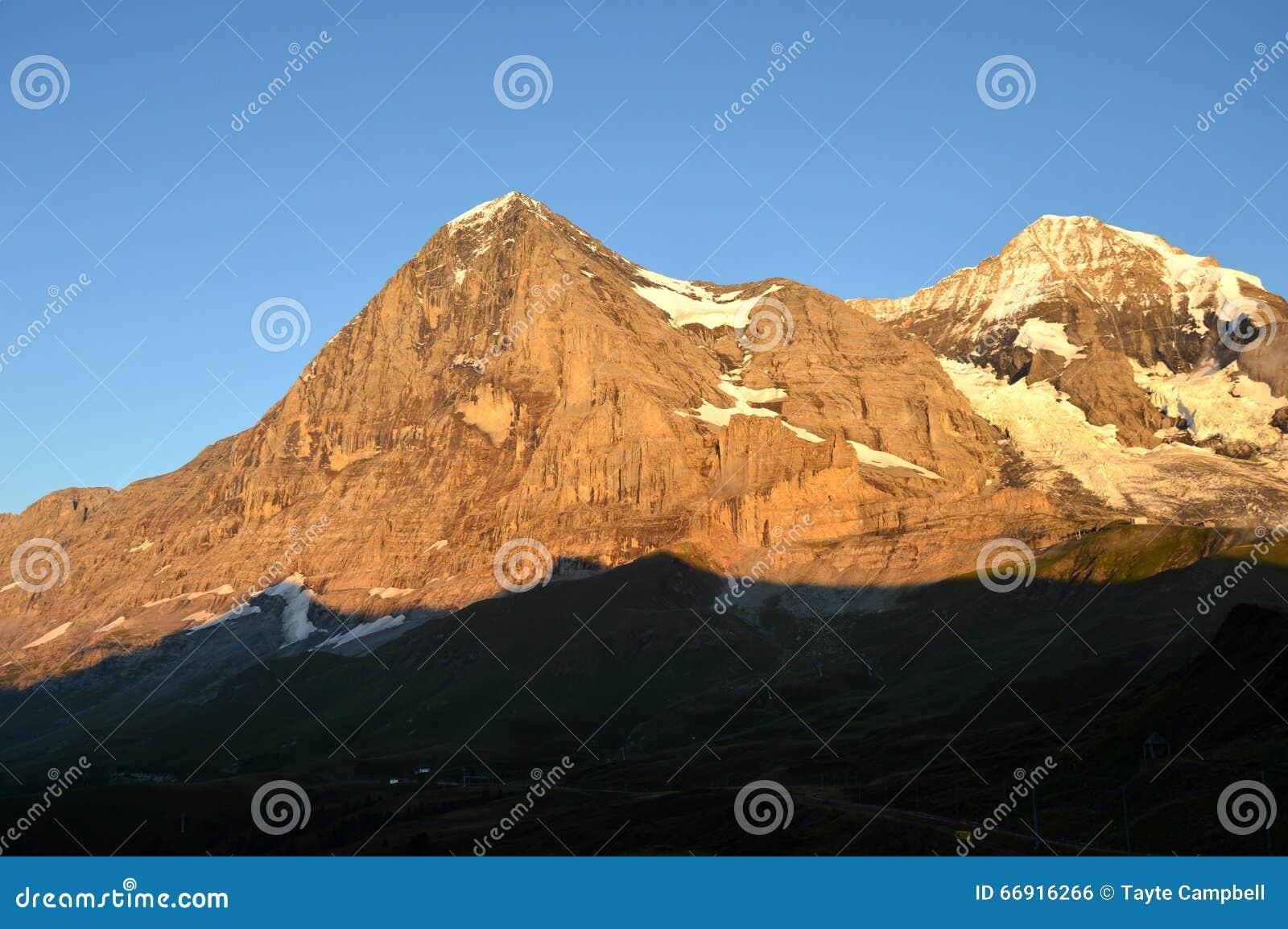 艾格峰的北部面孔在瑞士