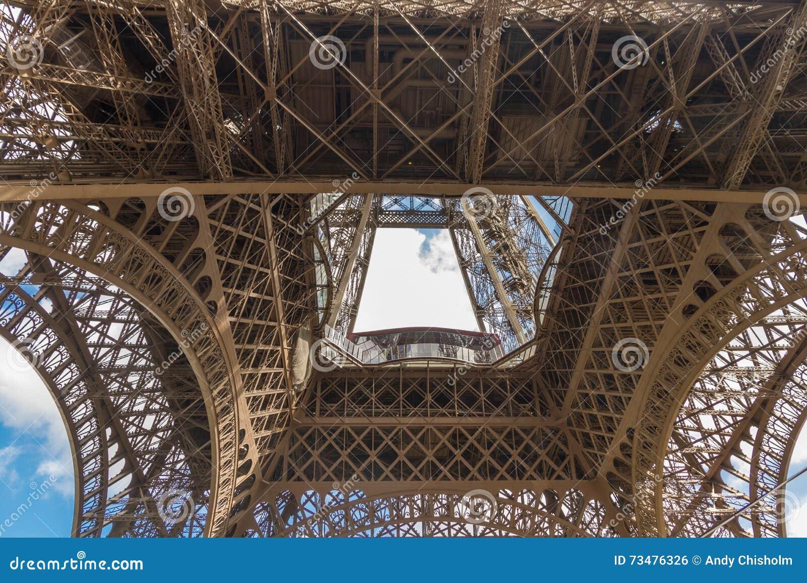 艾菲尔铁塔的下面