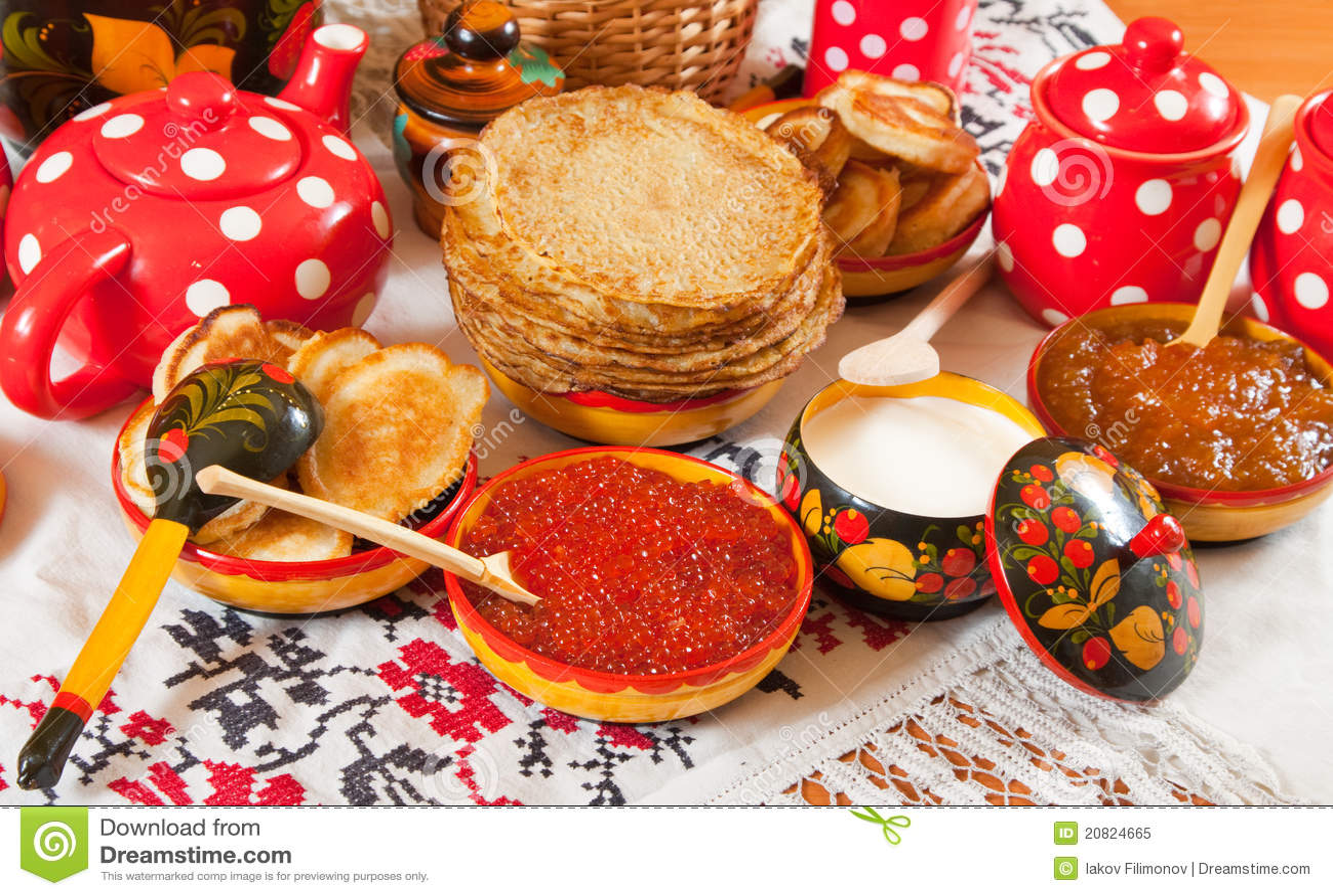 节日maslenitsa膳食