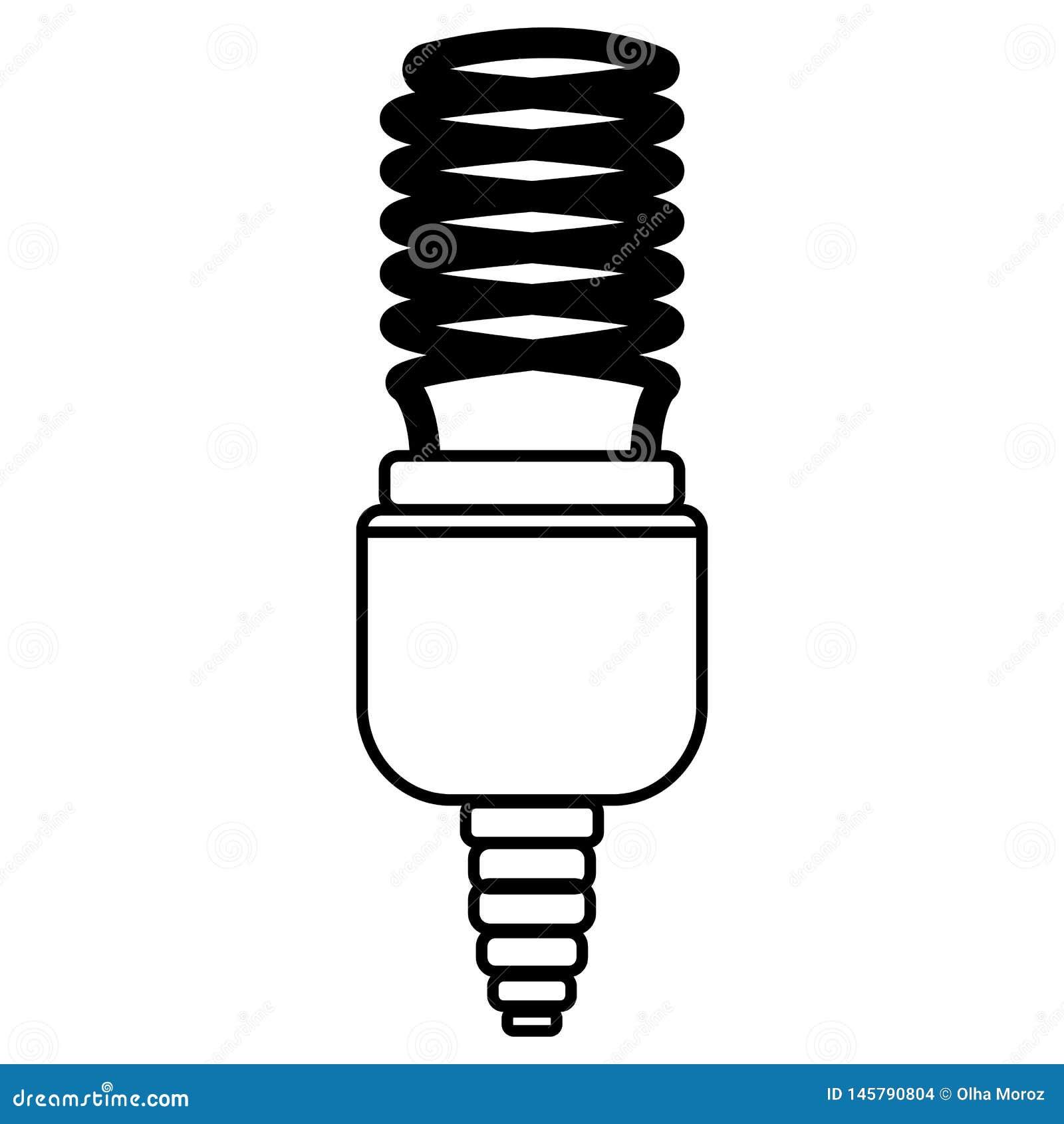 节能灯 概述样式的传染媒介例证