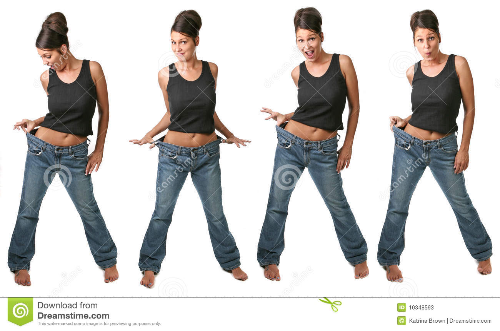 节食的多个查看妇女