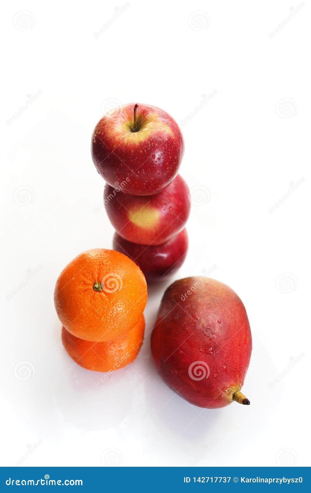 芒果、桔子和苹果