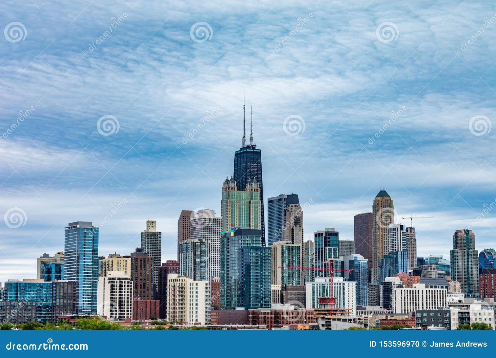 芝加哥从西方的地平线视图