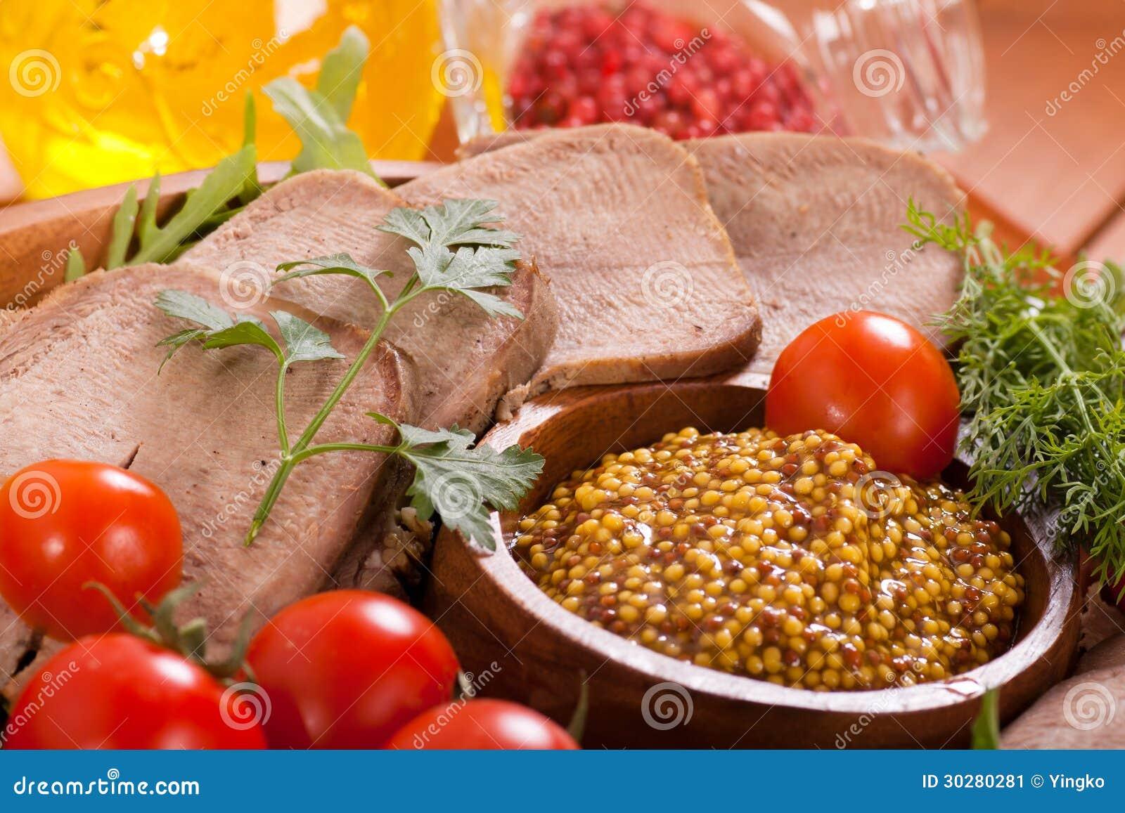 芥末和牛舌肉